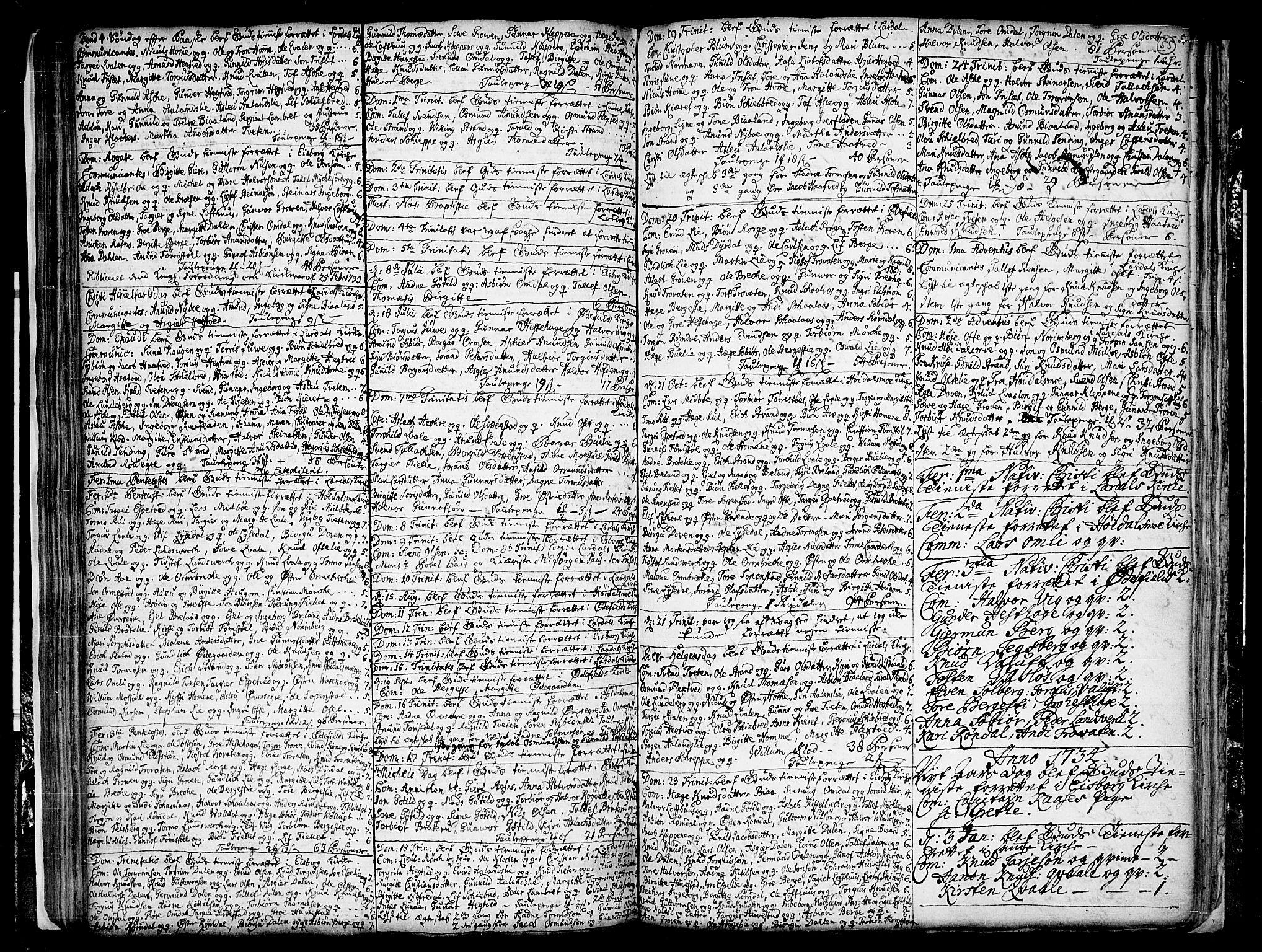 SAKO, Lårdal kirkebøker, F/Fa/L0001: Ministerialbok nr. I 1, 1721-1734, s. 55