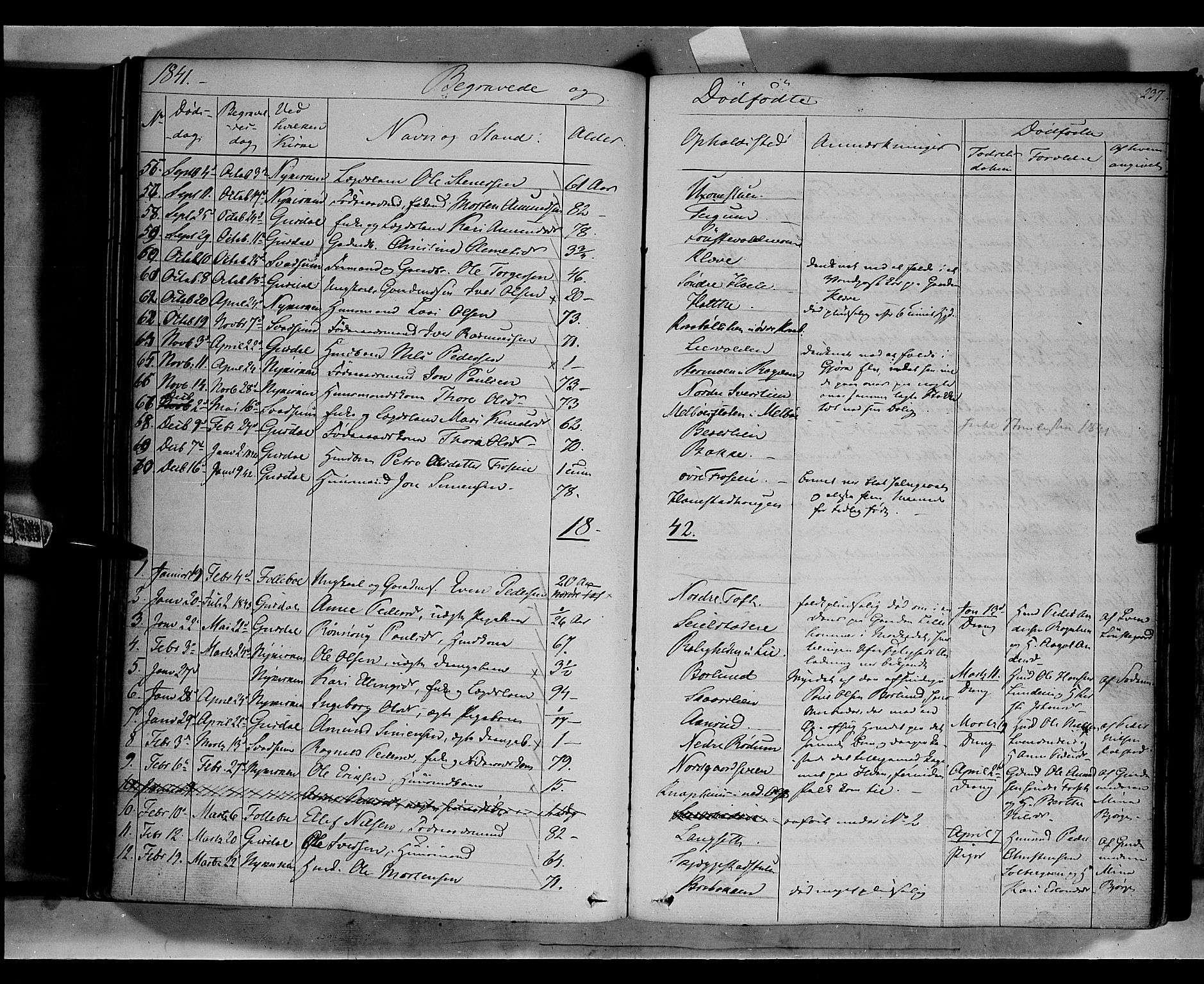 SAH, Gausdal prestekontor, Ministerialbok nr. 7, 1840-1850, s. 237