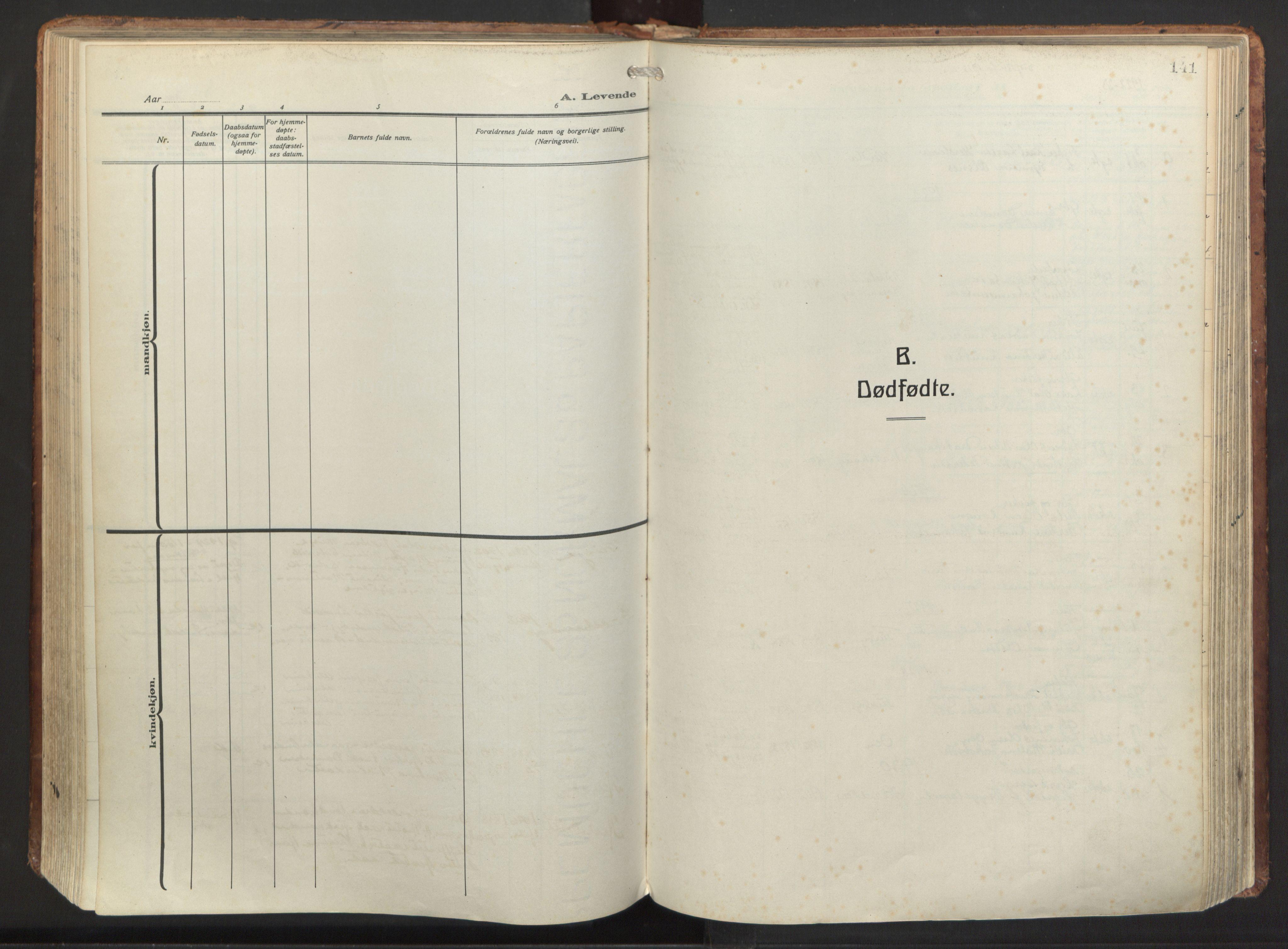 SAB, Herdla Sokneprestembete, H/Haa: Ministerialbok nr. A 6, 1918-1933, s. 141