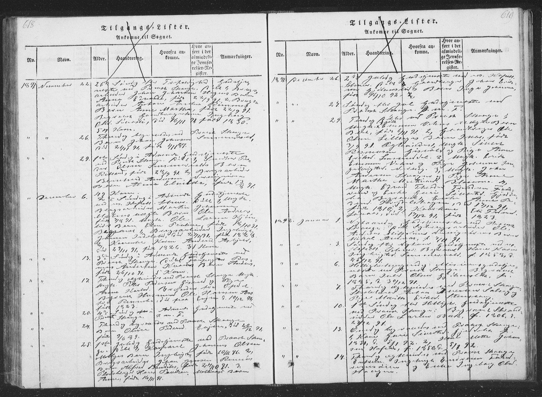 SAT, Ministerialprotokoller, klokkerbøker og fødselsregistre - Sør-Trøndelag, 668/L0816: Klokkerbok nr. 668C05, 1816-1893, s. 618-619