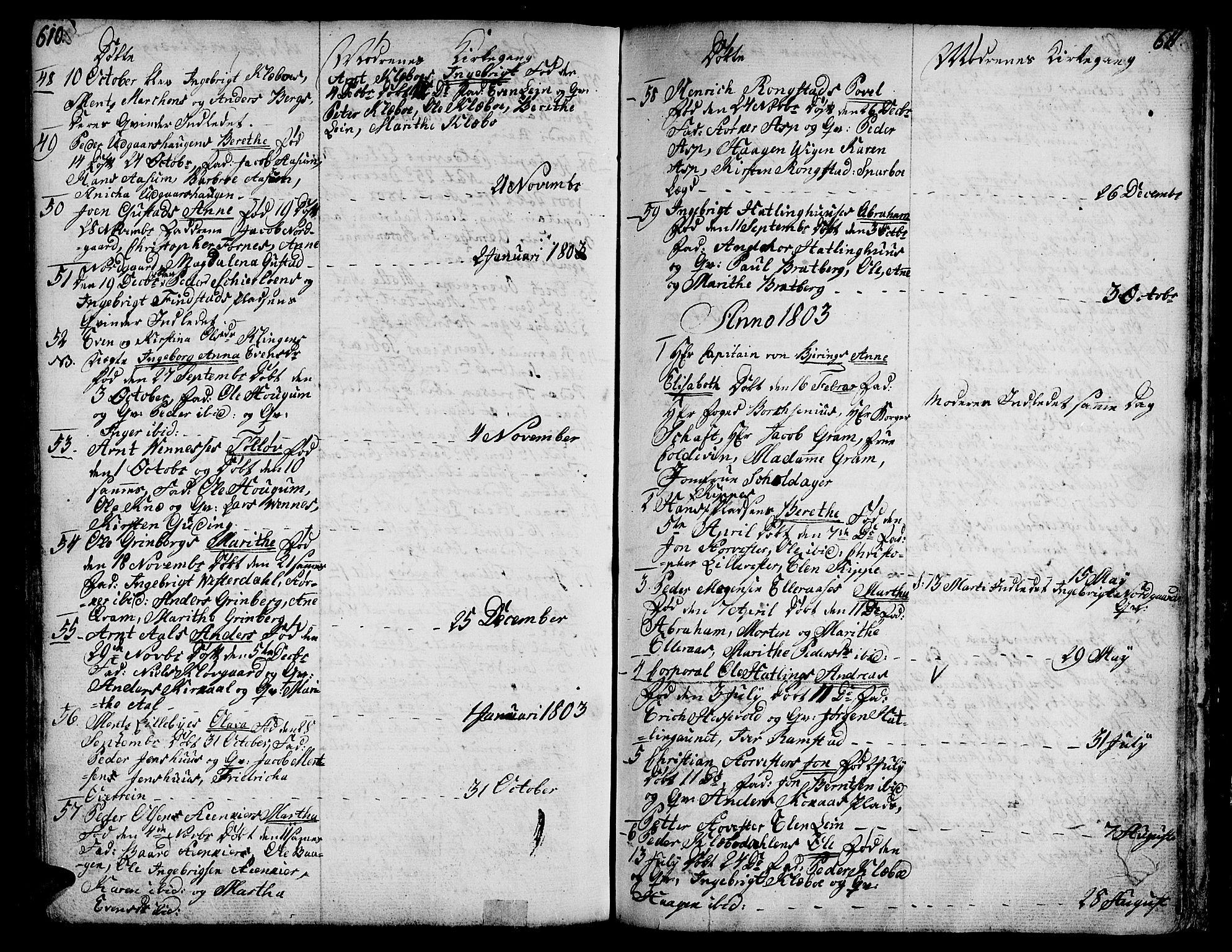 SAT, Ministerialprotokoller, klokkerbøker og fødselsregistre - Nord-Trøndelag, 746/L0440: Ministerialbok nr. 746A02, 1760-1815, s. 610-611