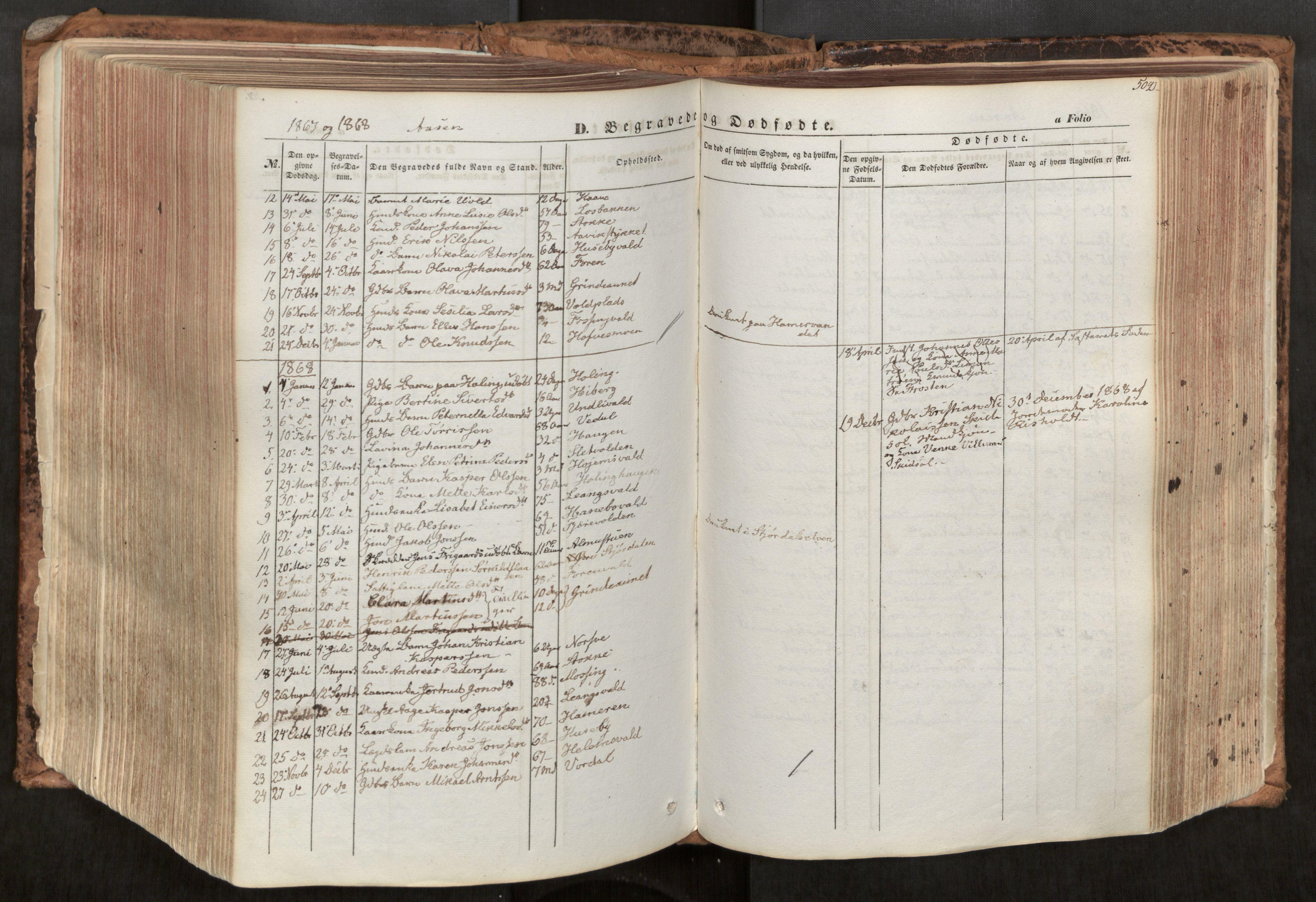 SAT, Ministerialprotokoller, klokkerbøker og fødselsregistre - Nord-Trøndelag, 713/L0116: Ministerialbok nr. 713A07, 1850-1877, s. 502