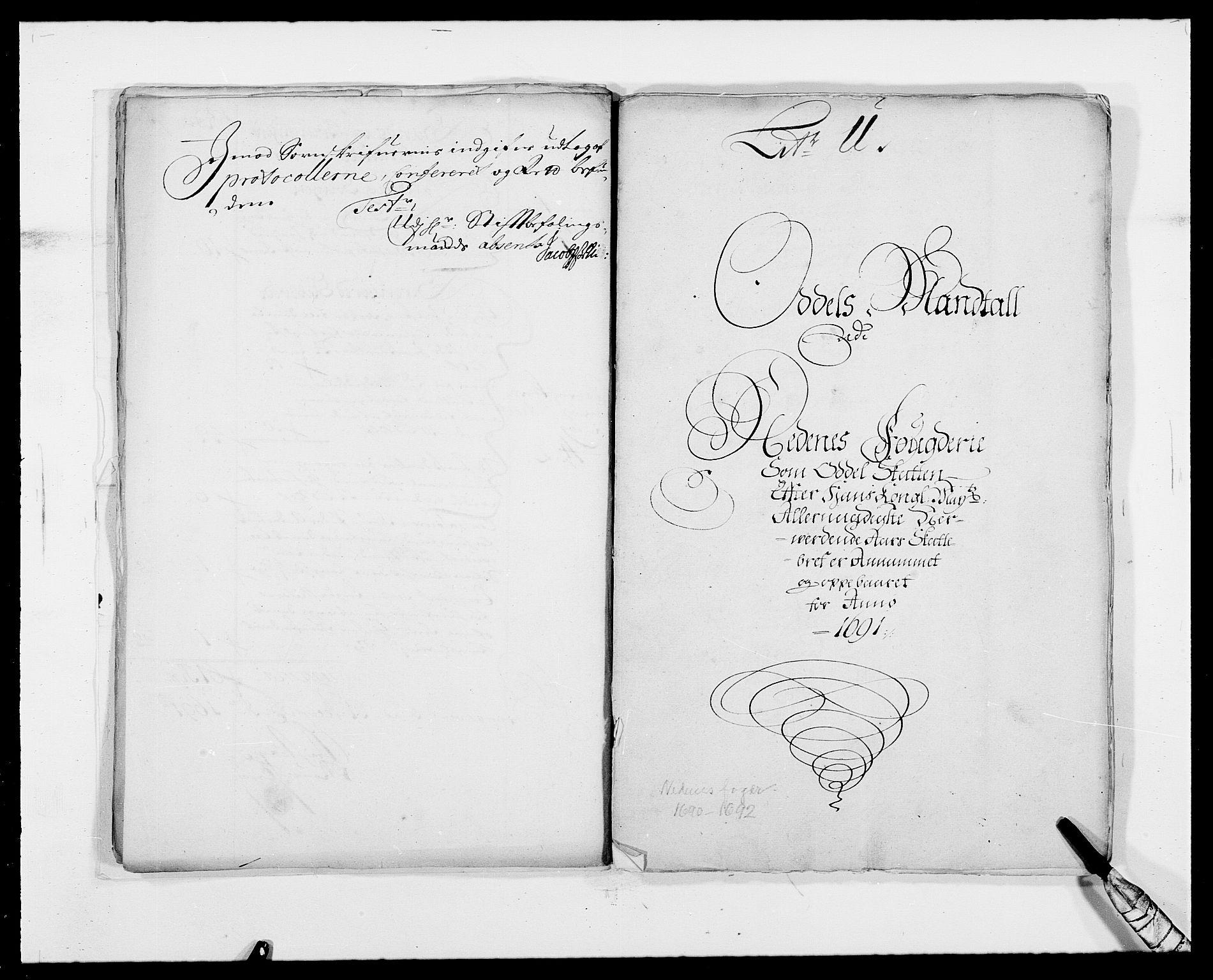 RA, Rentekammeret inntil 1814, Reviderte regnskaper, Fogderegnskap, R39/L2311: Fogderegnskap Nedenes, 1690-1692, s. 20