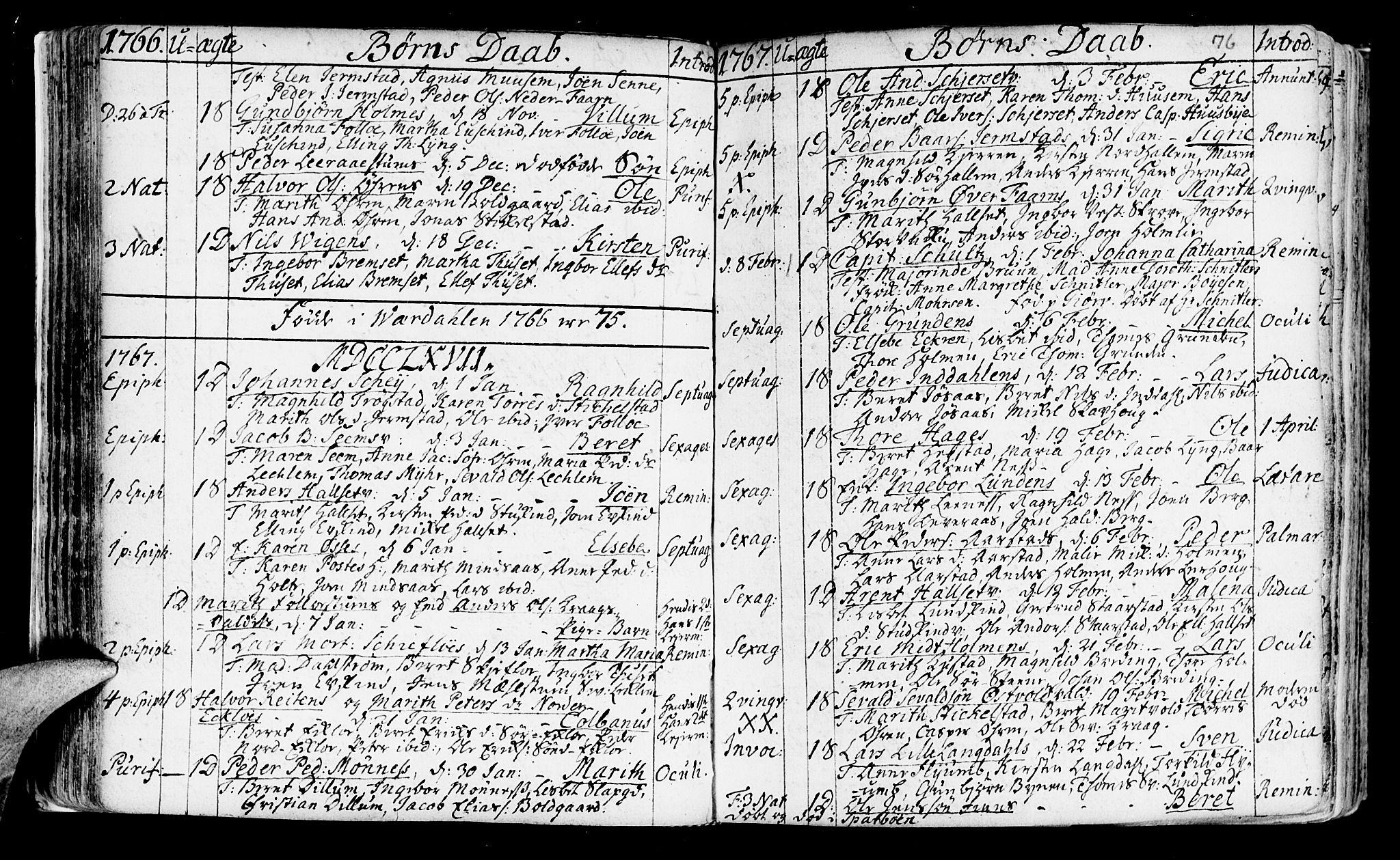 SAT, Ministerialprotokoller, klokkerbøker og fødselsregistre - Nord-Trøndelag, 723/L0231: Ministerialbok nr. 723A02, 1748-1780, s. 76