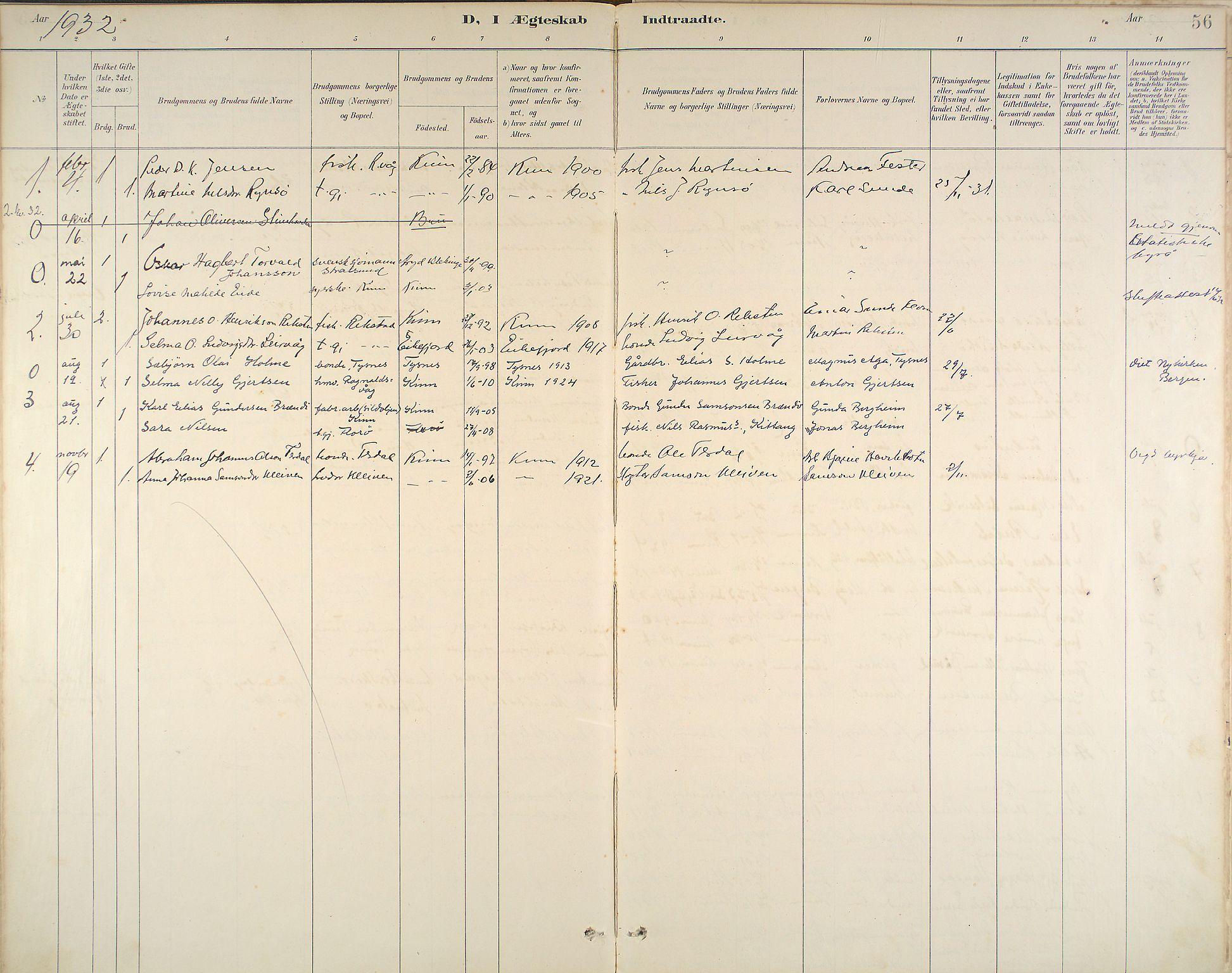 Kinn Sokneprestembete, Ministerialbok nr. B 3, 1886-1936, s. 56