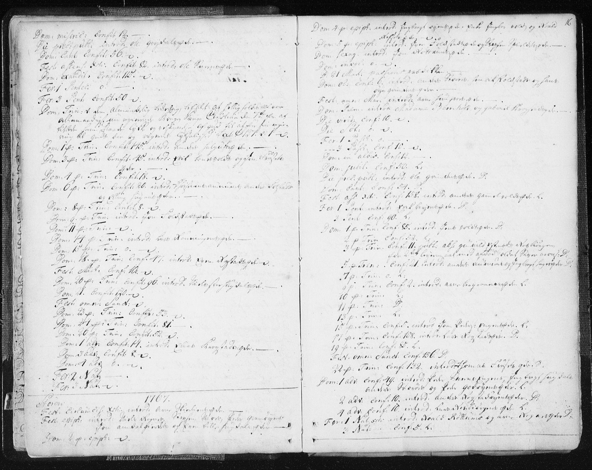 SAT, Ministerialprotokoller, klokkerbøker og fødselsregistre - Sør-Trøndelag, 687/L0991: Ministerialbok nr. 687A02, 1747-1790, s. 16