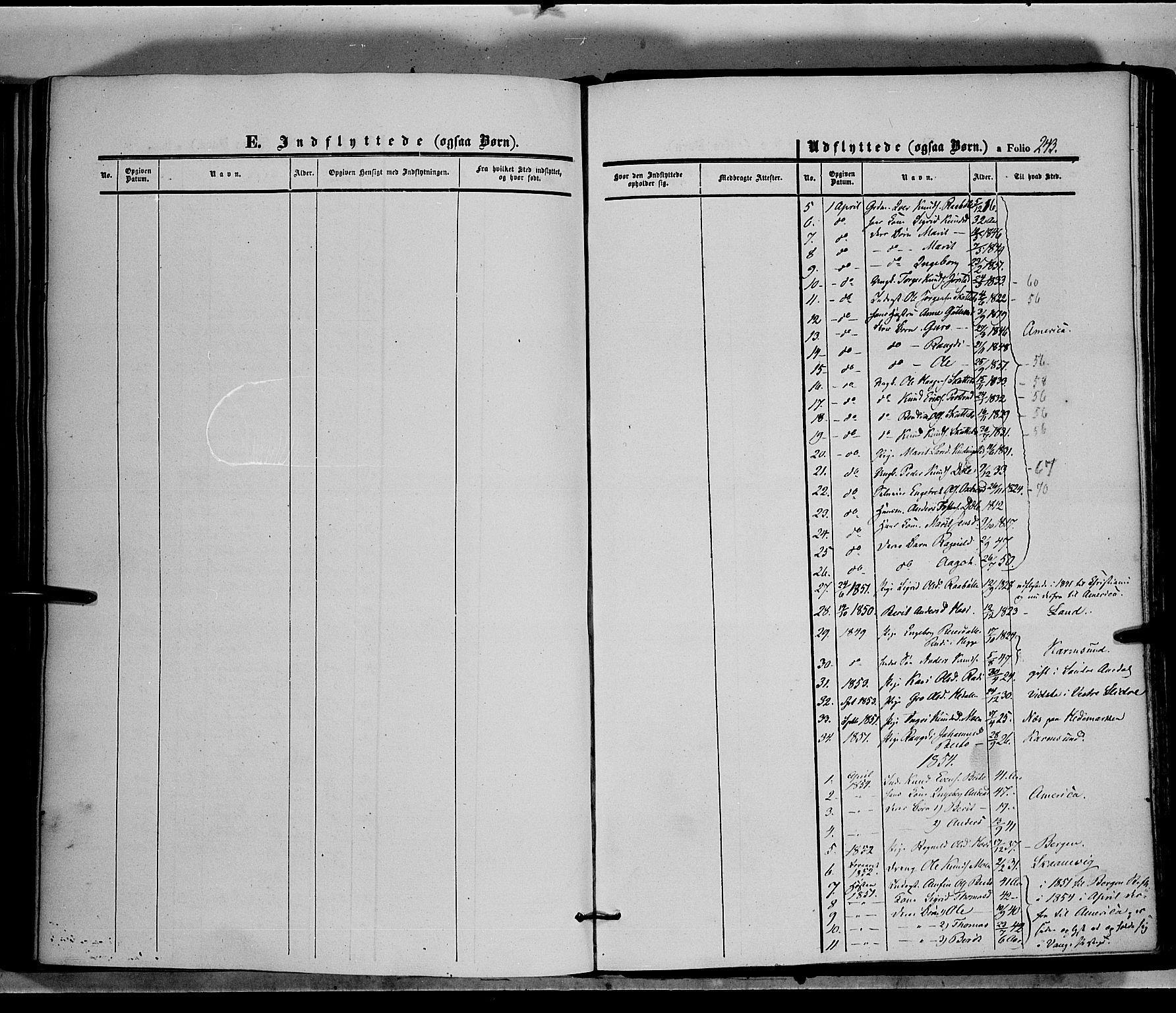 SAH, Øystre Slidre prestekontor, Ministerialbok nr. 1, 1849-1874, s. 242