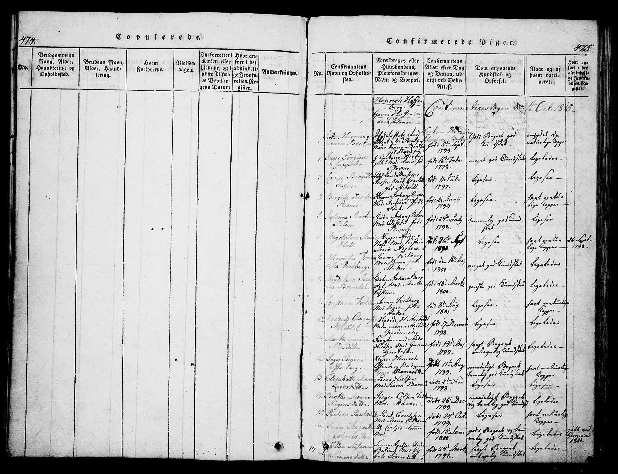 SAKO, Skien kirkebøker, G/Ga/L0002: Klokkerbok nr. 2, 1814-1842, s. 474-475