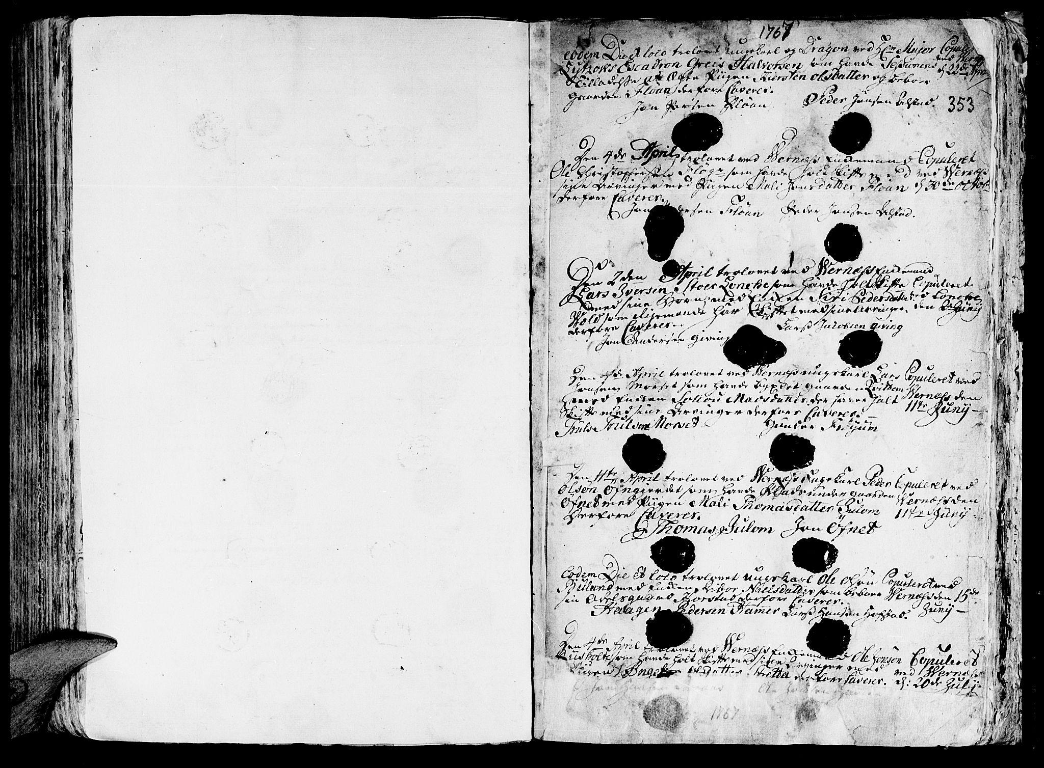 SAT, Ministerialprotokoller, klokkerbøker og fødselsregistre - Nord-Trøndelag, 709/L0057: Ministerialbok nr. 709A05, 1755-1780, s. 353