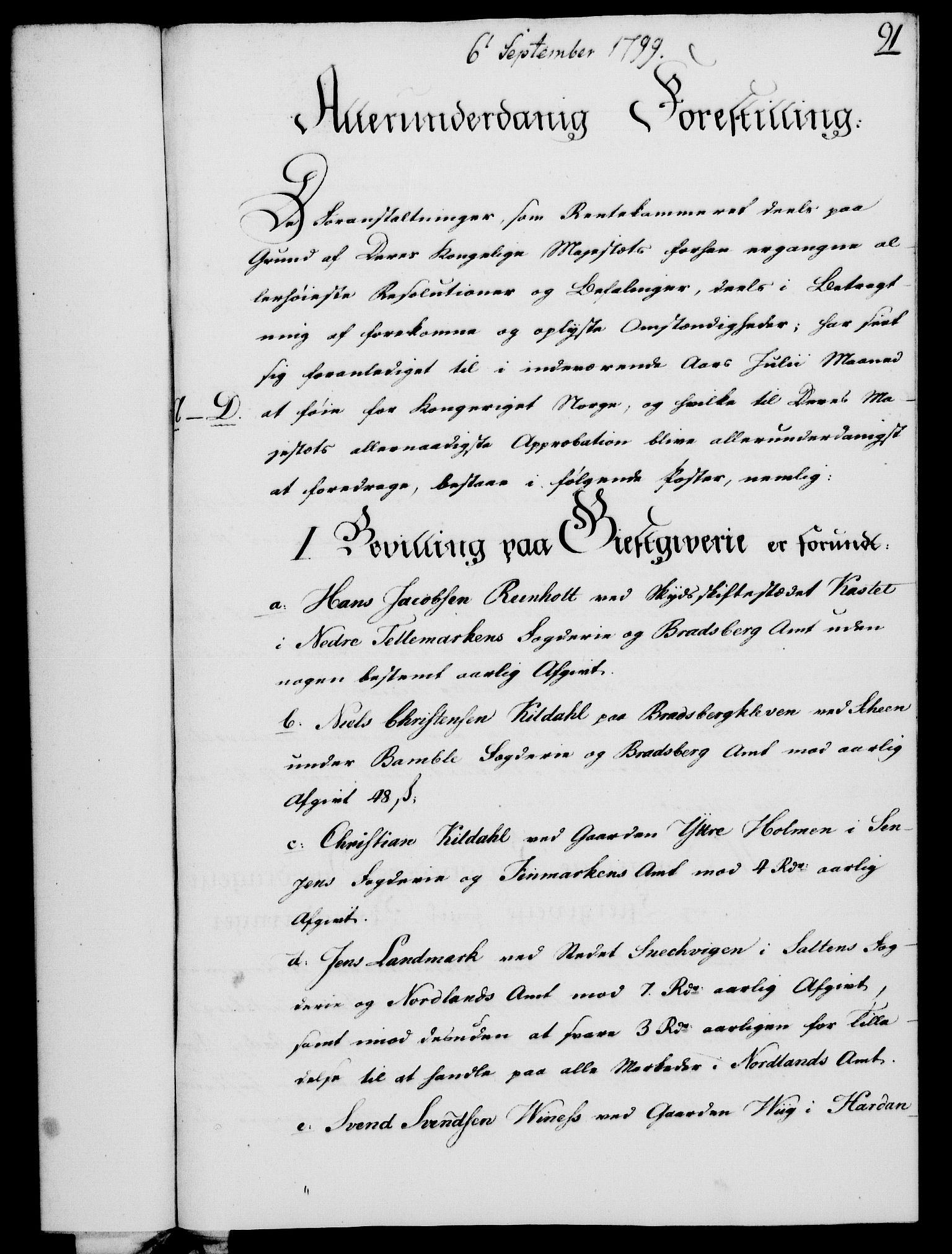 RA, Rentekammeret, Kammerkanselliet, G/Gf/Gfa/L0081: Norsk relasjons- og resolusjonsprotokoll (merket RK 52.81), 1799, s. 566
