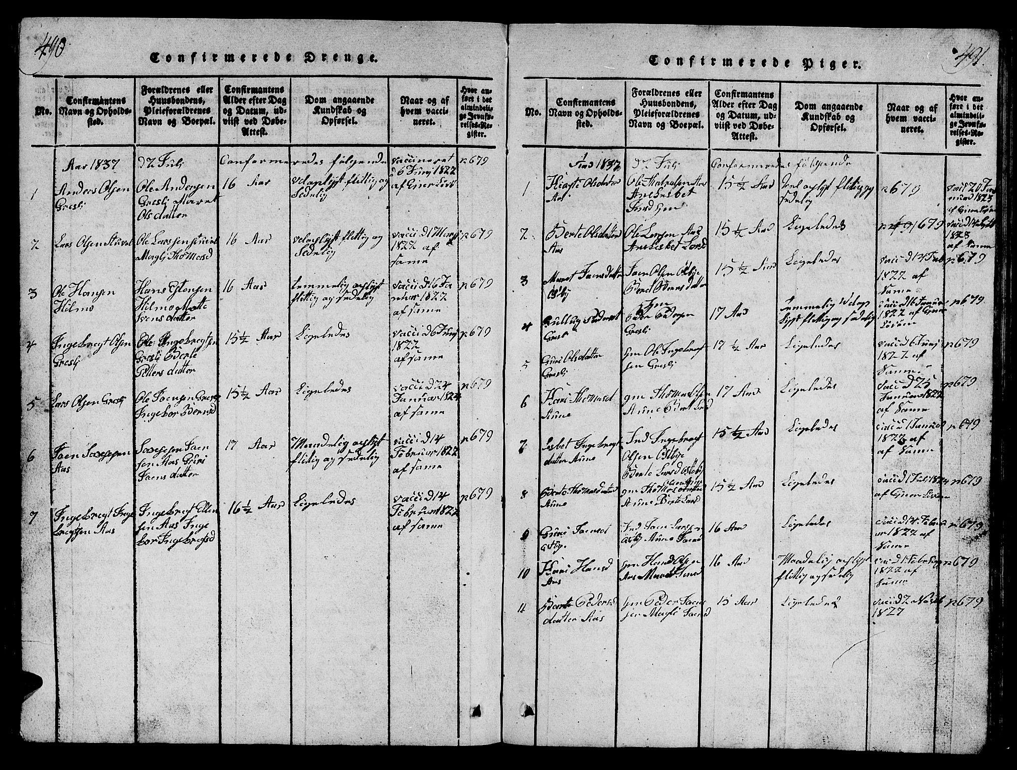 SAT, Ministerialprotokoller, klokkerbøker og fødselsregistre - Sør-Trøndelag, 698/L1164: Klokkerbok nr. 698C01, 1816-1861, s. 490-491