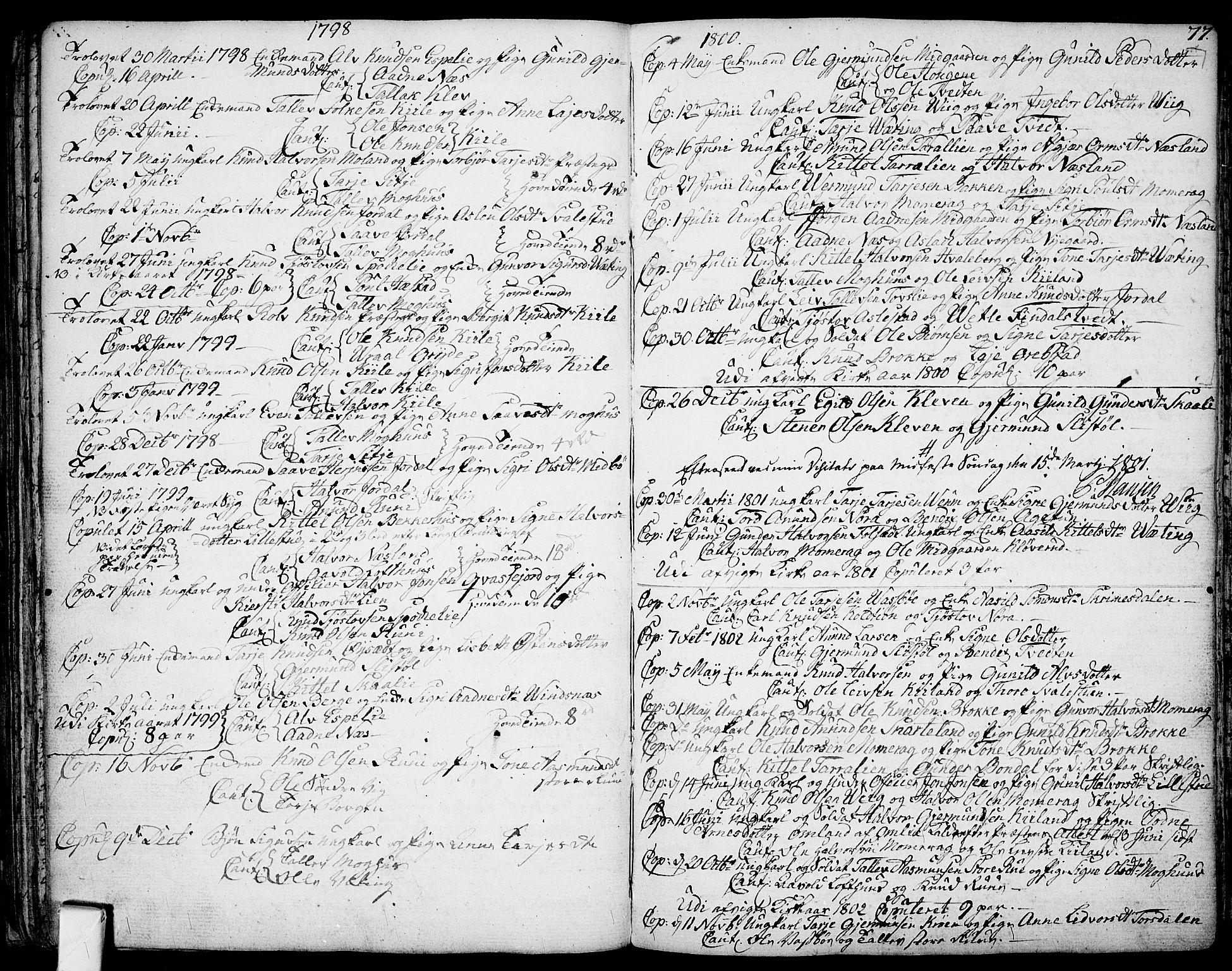 SAKO, Fyresdal kirkebøker, F/Fa/L0002: Ministerialbok nr. I 2, 1769-1814, s. 77