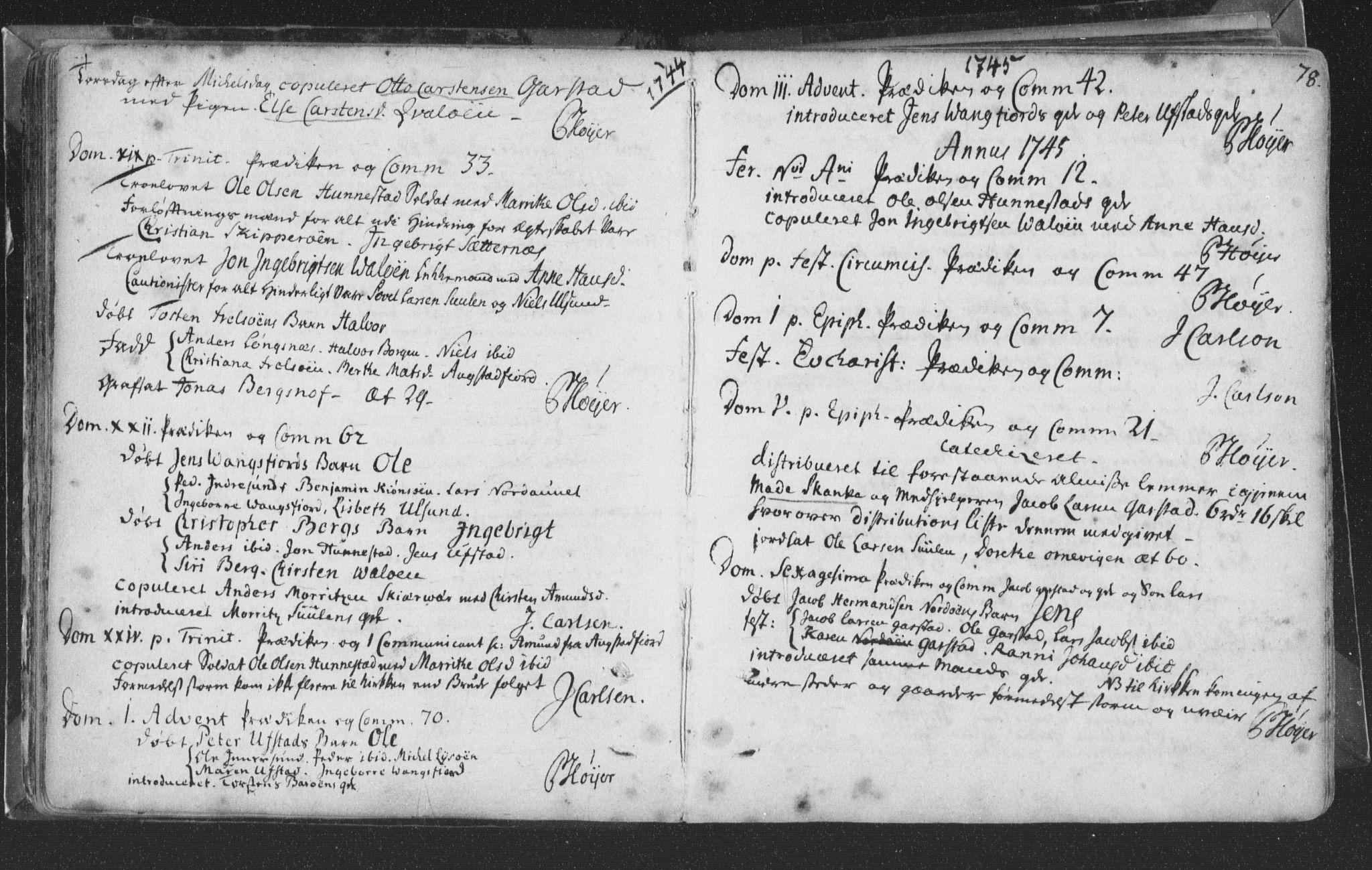 SAT, Ministerialprotokoller, klokkerbøker og fødselsregistre - Nord-Trøndelag, 786/L0685: Ministerialbok nr. 786A01, 1710-1798, s. 78