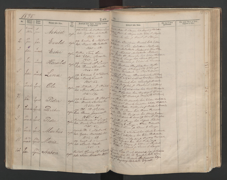 SAT, Ministerialprotokoller, klokkerbøker og fødselsregistre - Møre og Romsdal, 554/L0645: Klokkerbok nr. 554C02, 1867-1946, s. 72