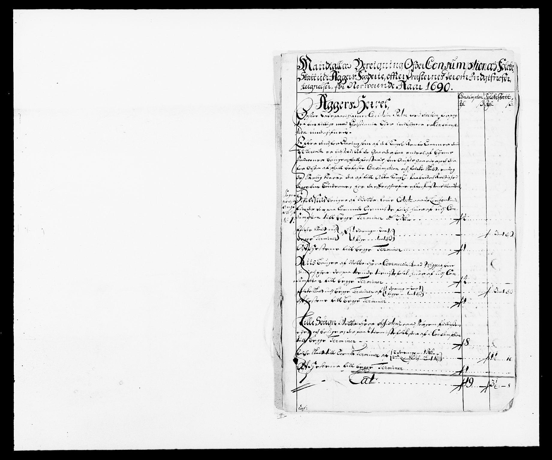 RA, Rentekammeret inntil 1814, Reviderte regnskaper, Fogderegnskap, R08/L0423: Fogderegnskap Aker, 1687-1689, s. 221