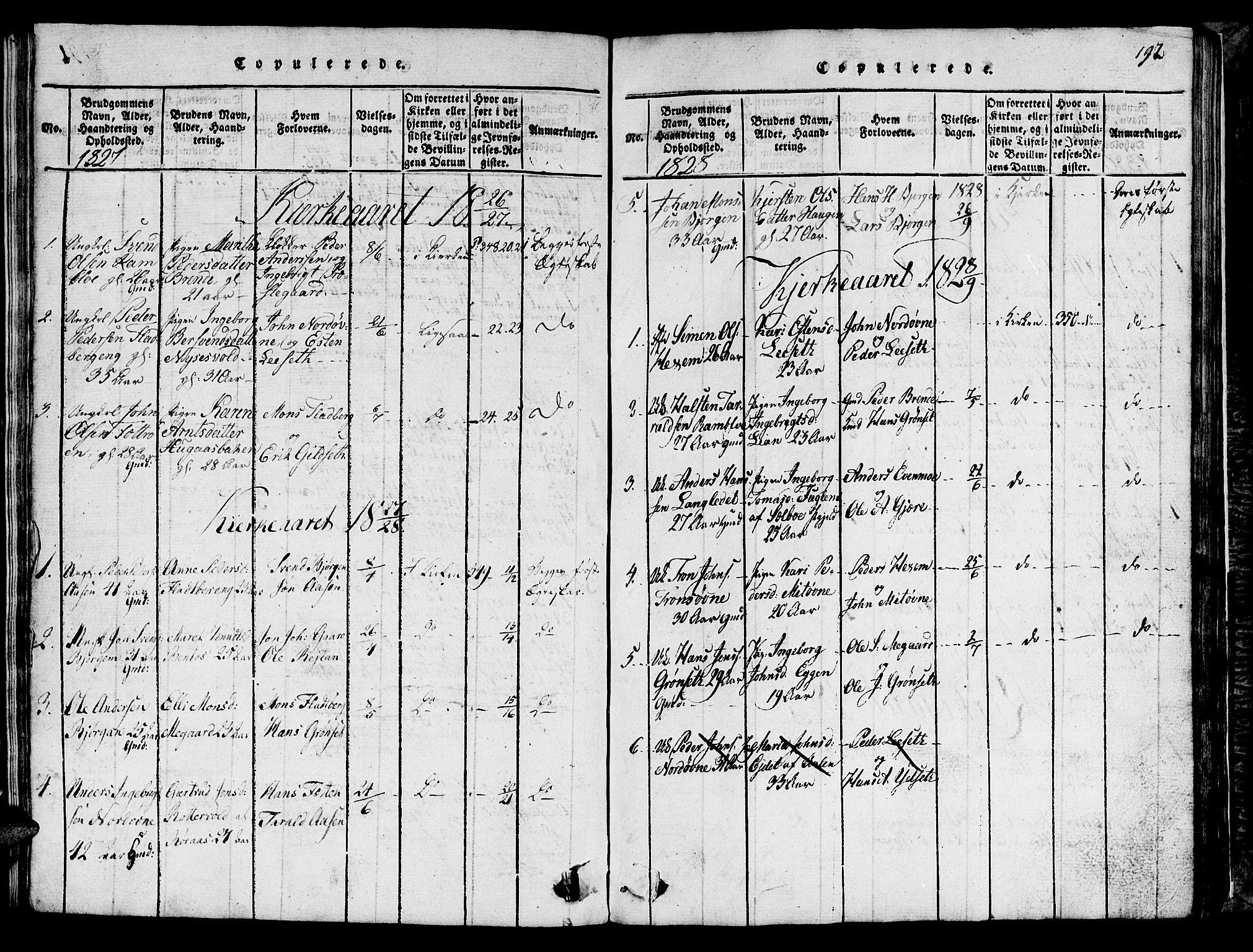 SAT, Ministerialprotokoller, klokkerbøker og fødselsregistre - Sør-Trøndelag, 685/L0976: Klokkerbok nr. 685C01, 1817-1878, s. 192