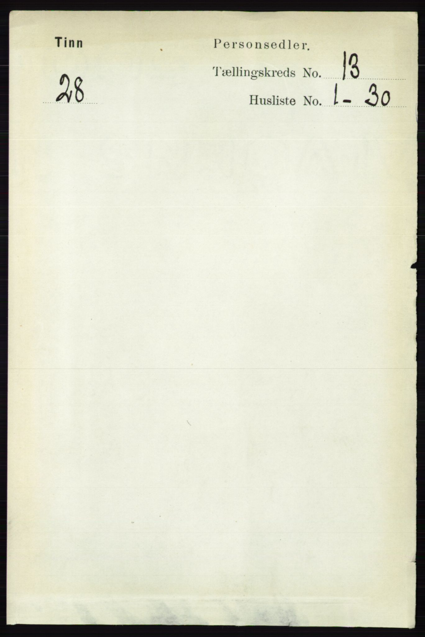 RA, Folketelling 1891 for 0826 Tinn herred, 1891, s. 2659