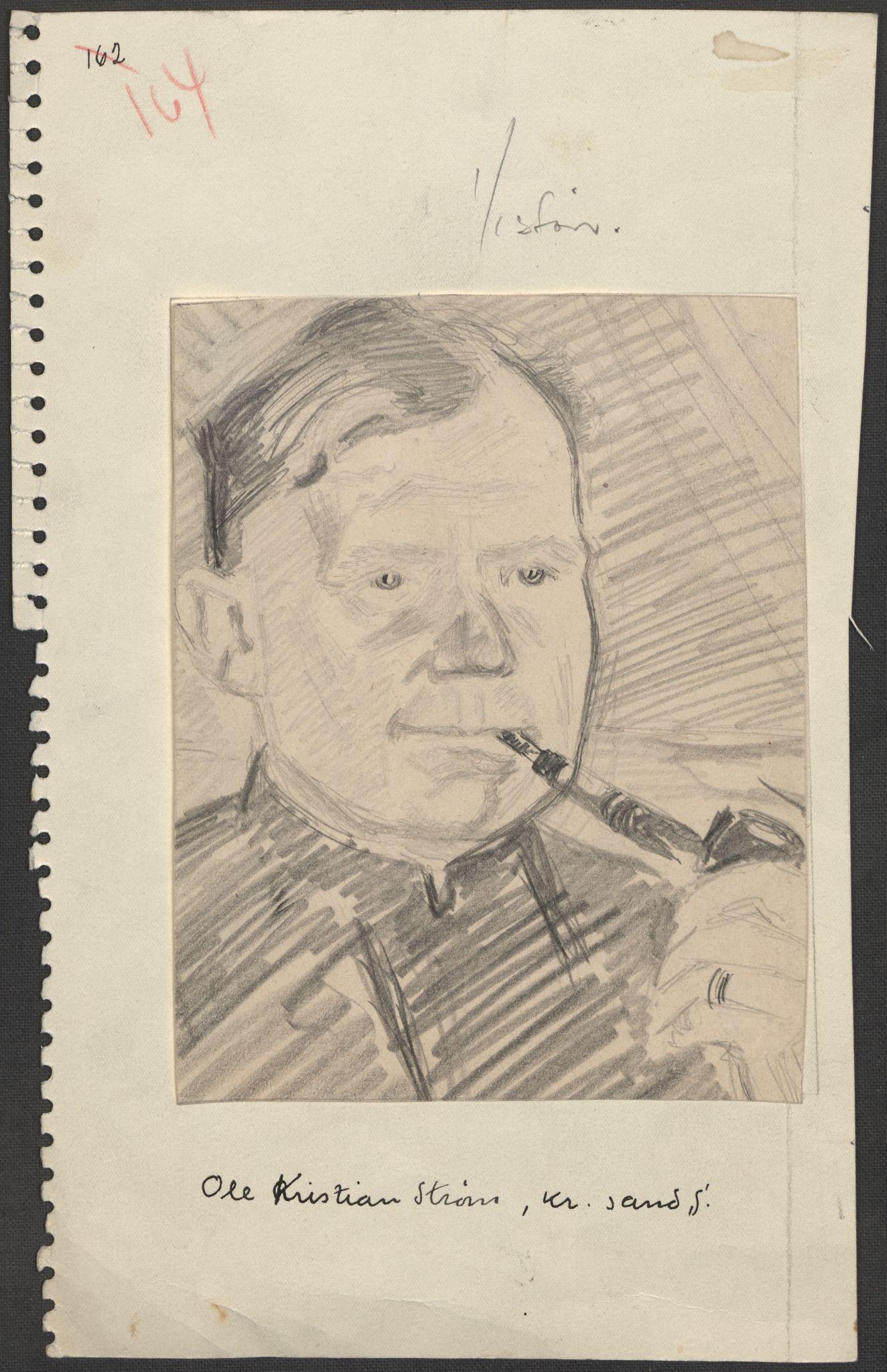 RA, Grøgaard, Joachim, F/L0002: Tegninger og tekster, 1942-1945, s. 129