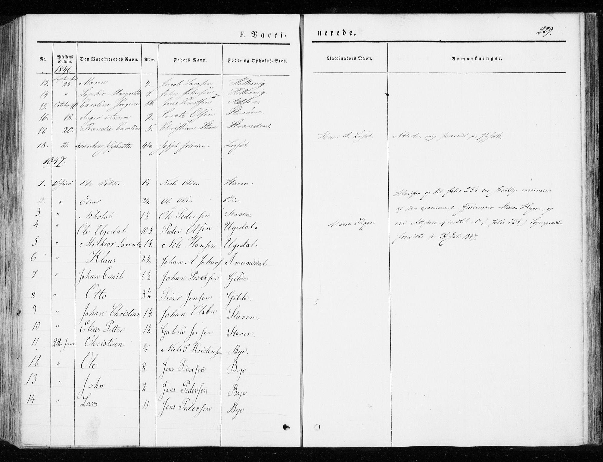 SAT, Ministerialprotokoller, klokkerbøker og fødselsregistre - Sør-Trøndelag, 655/L0677: Ministerialbok nr. 655A06, 1847-1860, s. 229
