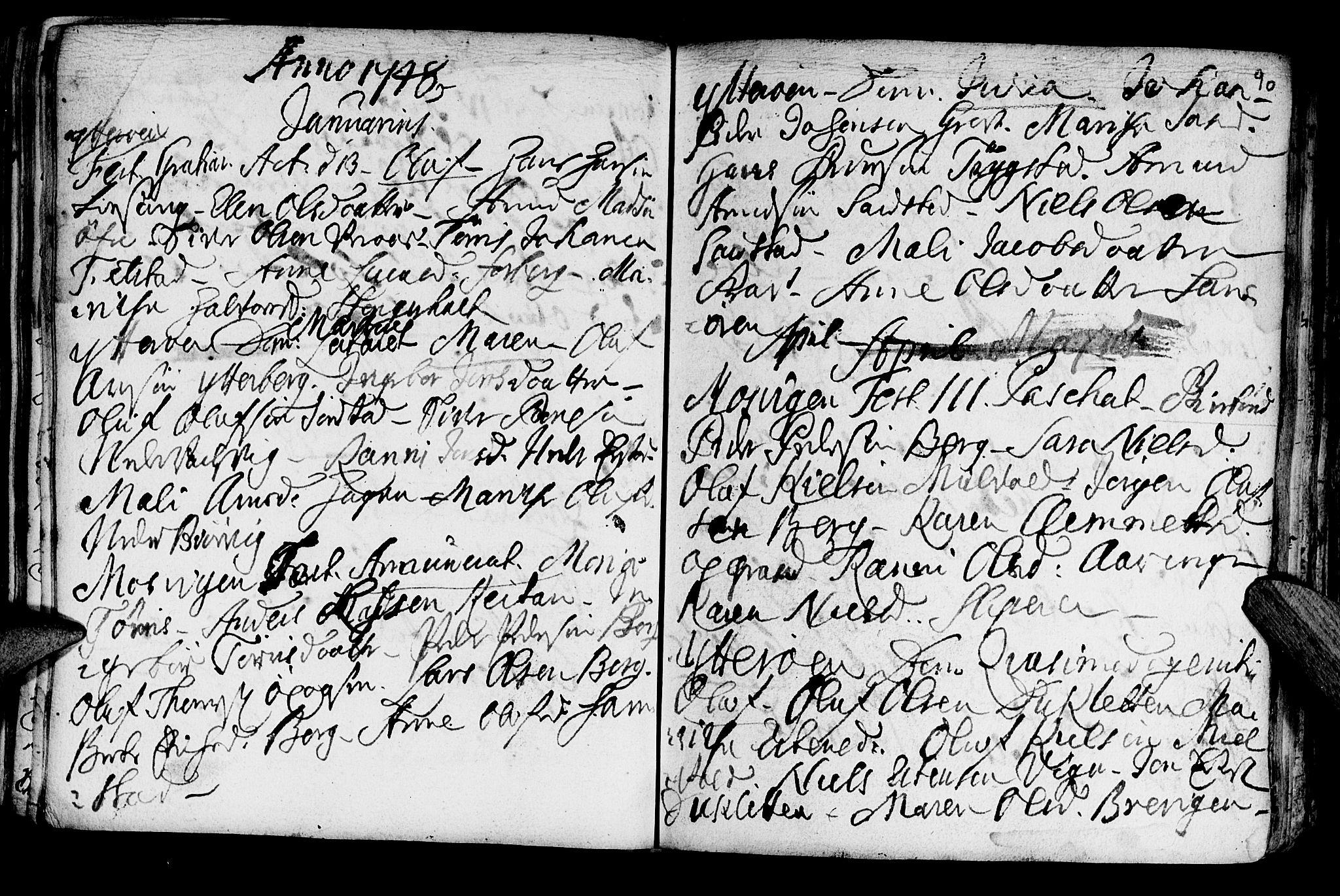 SAT, Ministerialprotokoller, klokkerbøker og fødselsregistre - Nord-Trøndelag, 722/L0215: Ministerialbok nr. 722A02, 1718-1755, s. 90