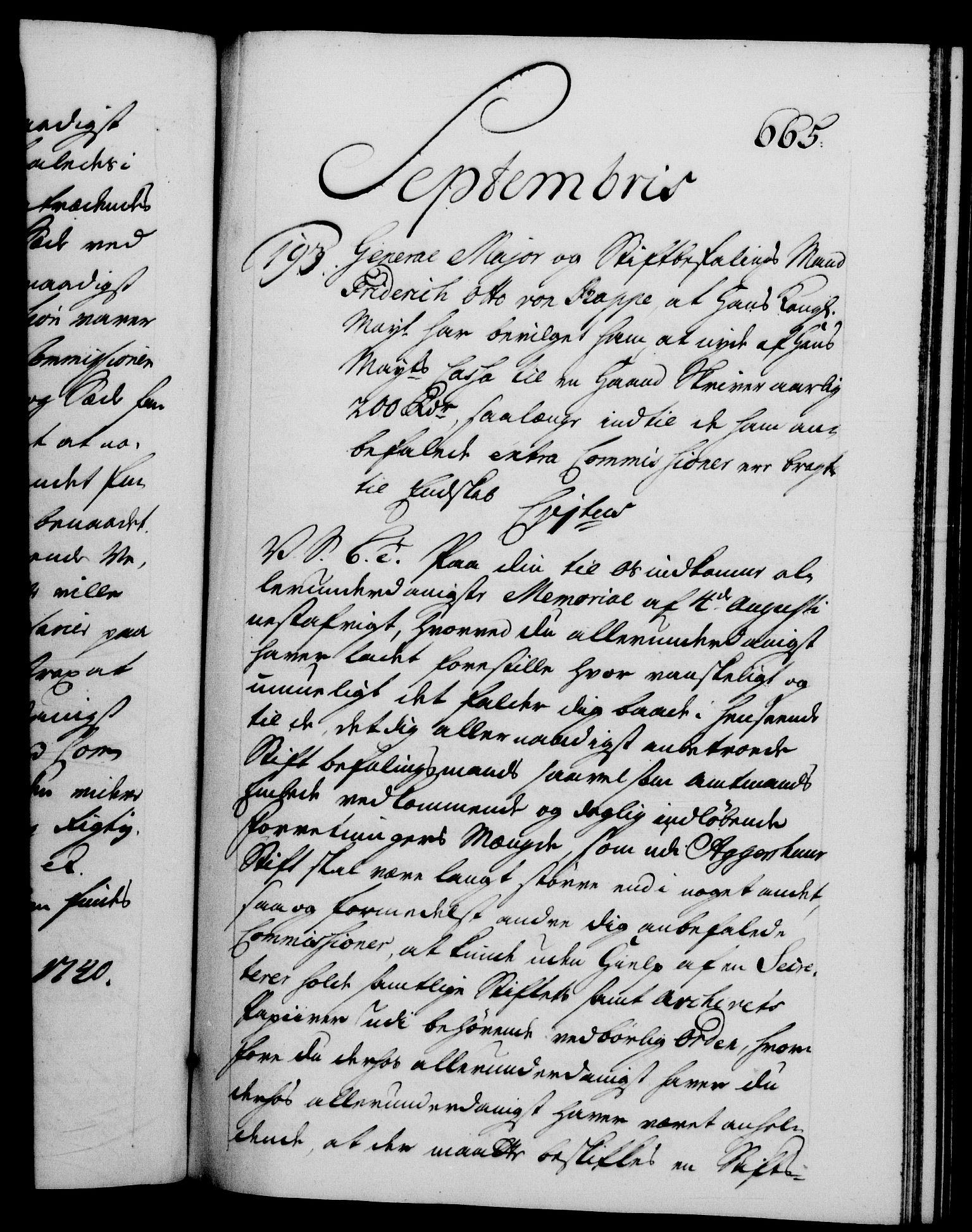 RA, Danske Kanselli 1572-1799, F/Fc/Fca/Fcab/L0028: Norske tegnelser, 1738-1740, s. 665a