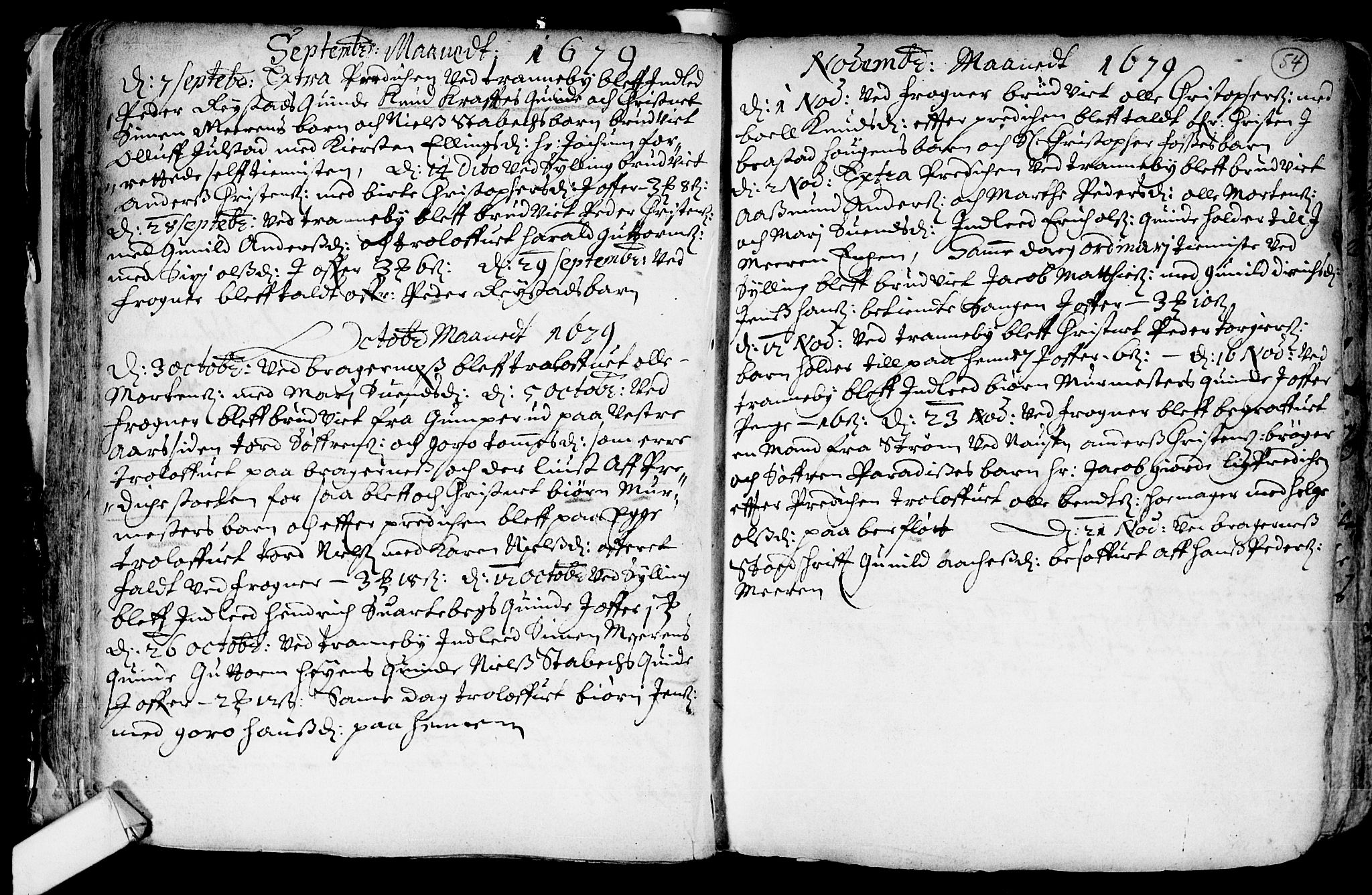 SAKO, Lier kirkebøker, F/Fa/L0001: Ministerialbok nr. I 1, 1672-1701, s. 54