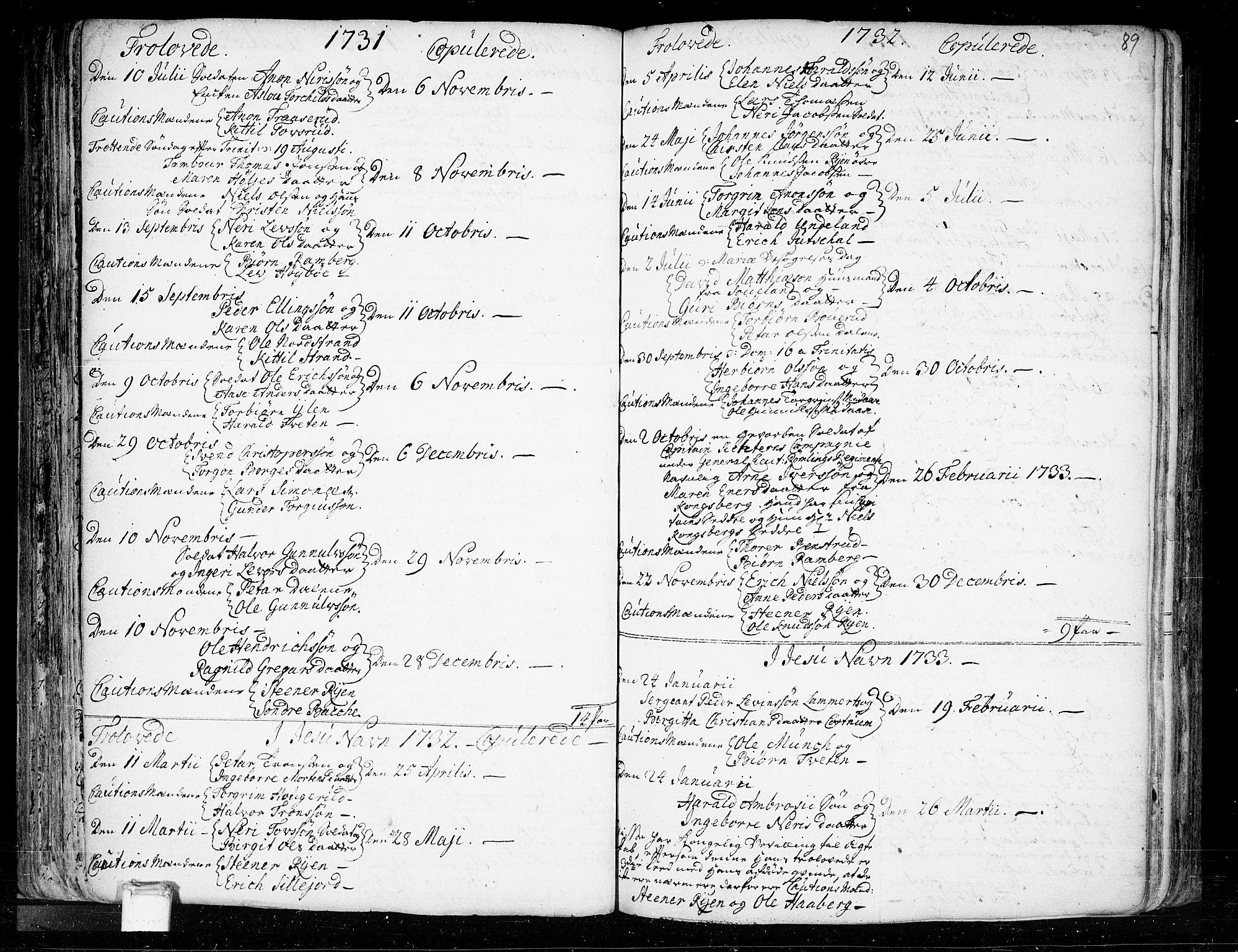 SAKO, Heddal kirkebøker, F/Fa/L0003: Ministerialbok nr. I 3, 1723-1783, s. 89