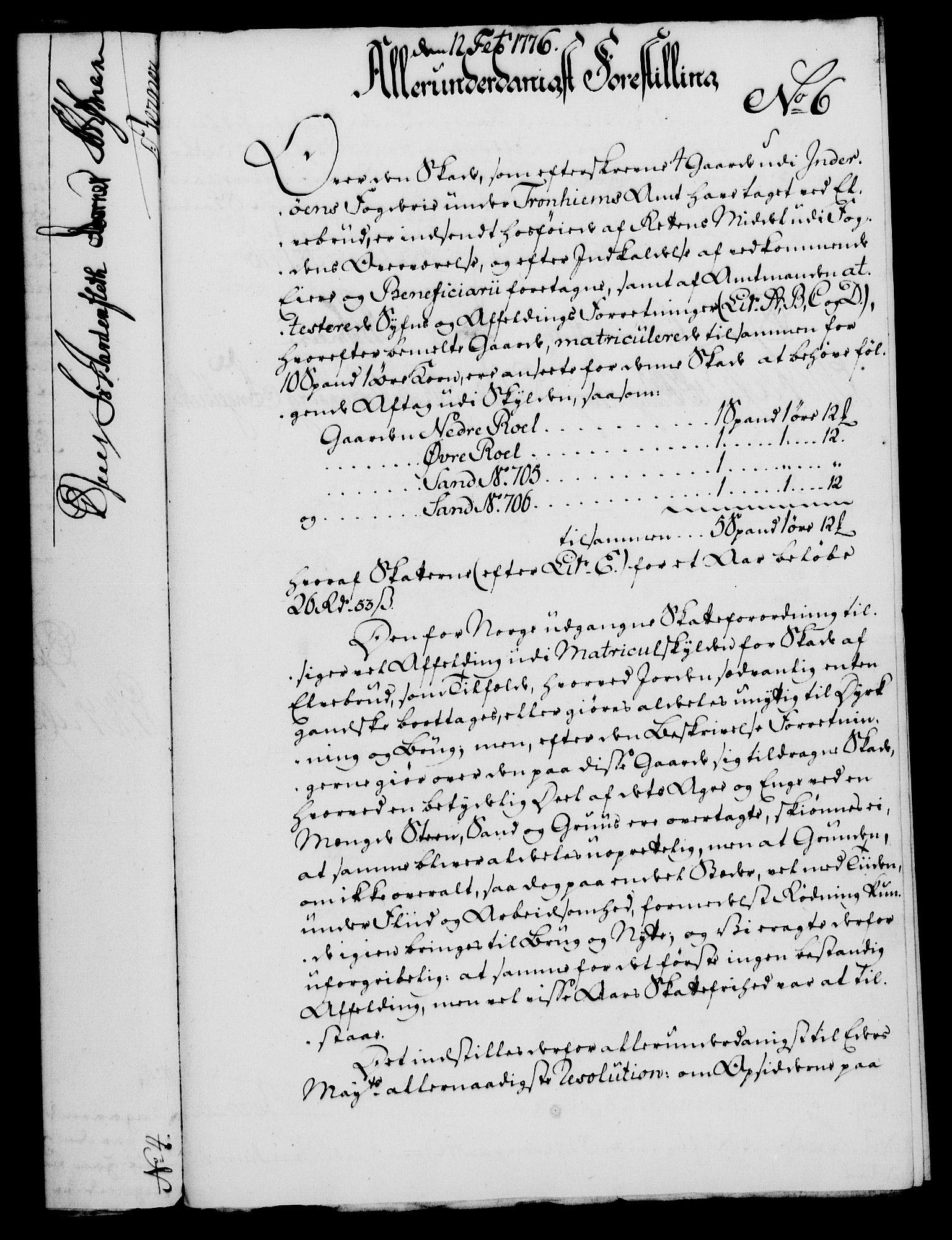 RA, Rentekammeret, Kammerkanselliet, G/Gf/Gfa/L0058: Norsk relasjons- og resolusjonsprotokoll (merket RK 52.58), 1776, s. 49