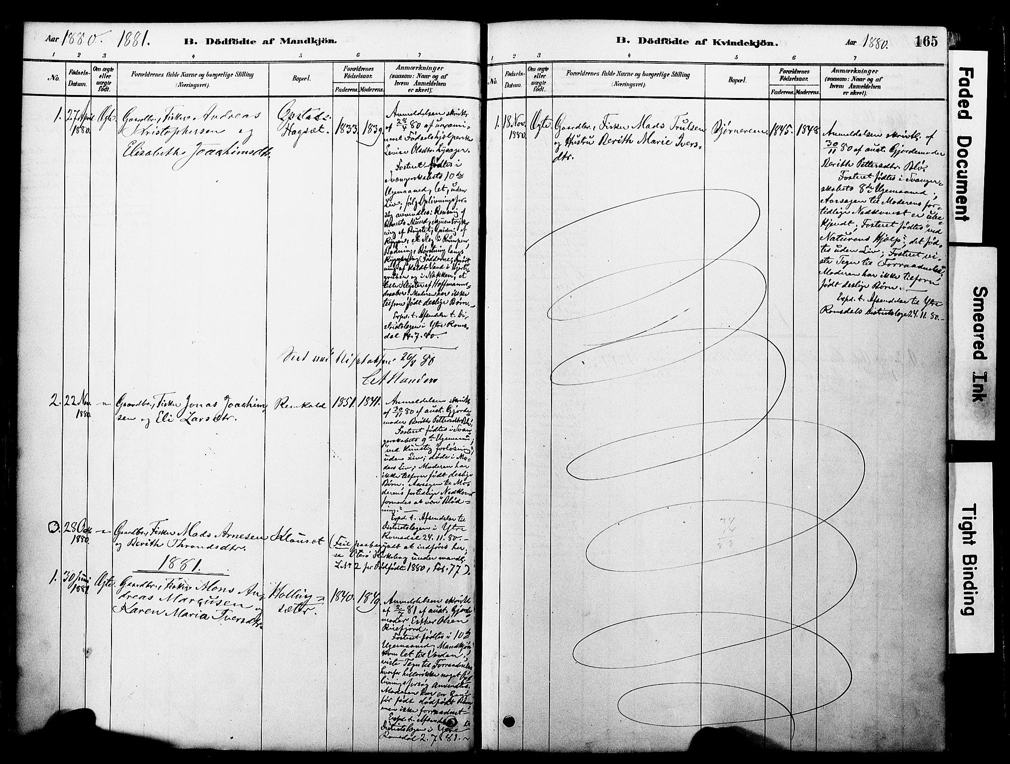 SAT, Ministerialprotokoller, klokkerbøker og fødselsregistre - Møre og Romsdal, 560/L0721: Ministerialbok nr. 560A05, 1878-1917, s. 165