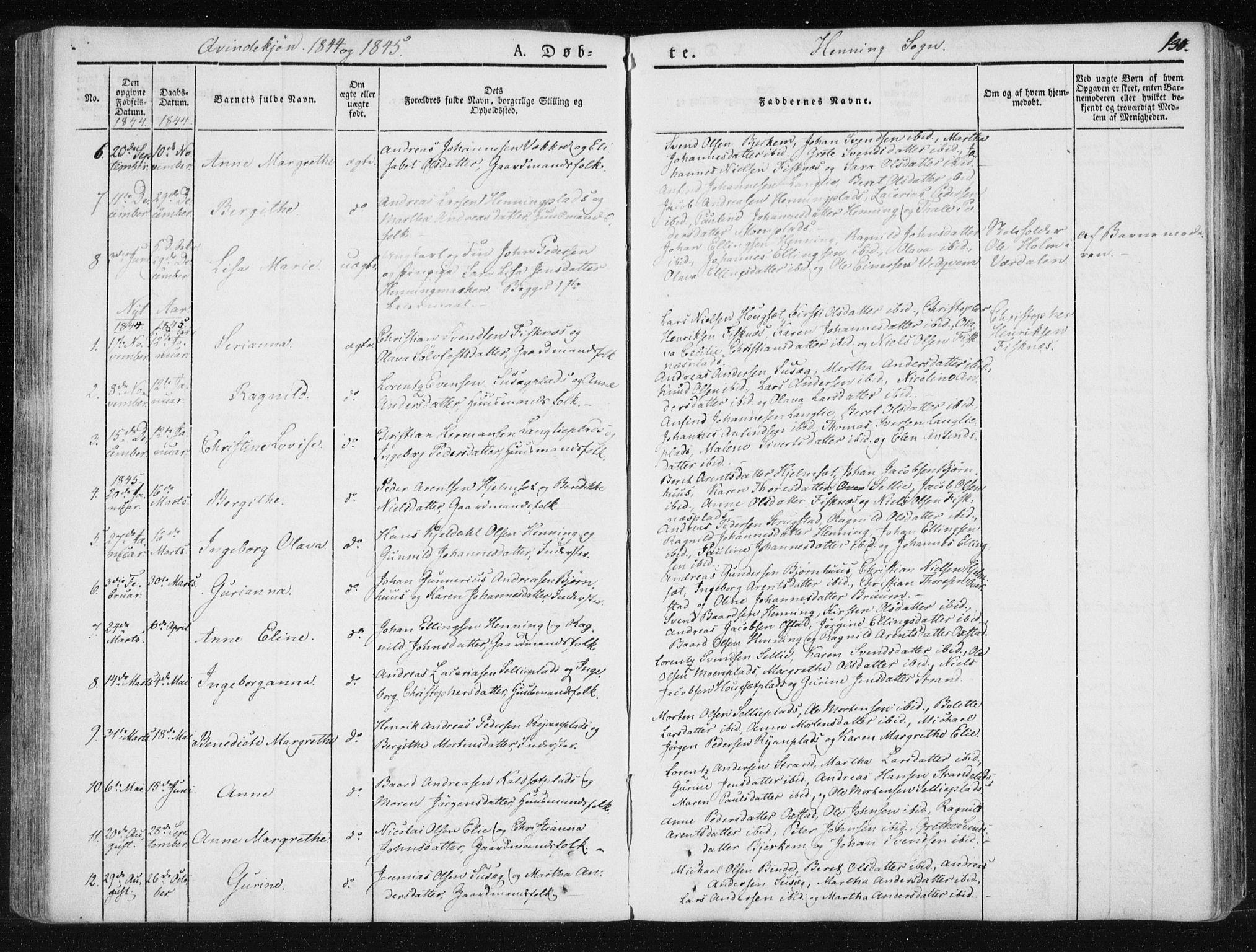 SAT, Ministerialprotokoller, klokkerbøker og fødselsregistre - Nord-Trøndelag, 735/L0339: Ministerialbok nr. 735A06 /3, 1836-1848, s. 130