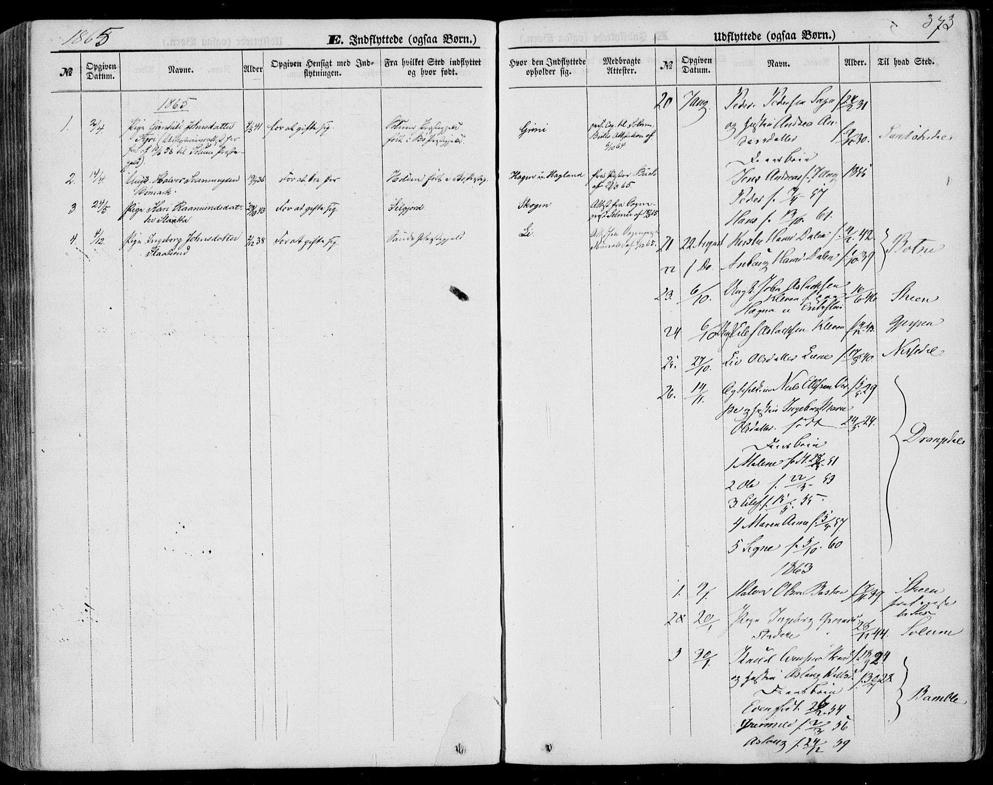 SAKO, Bø kirkebøker, F/Fa/L0009: Ministerialbok nr. 9, 1862-1879, s. 373