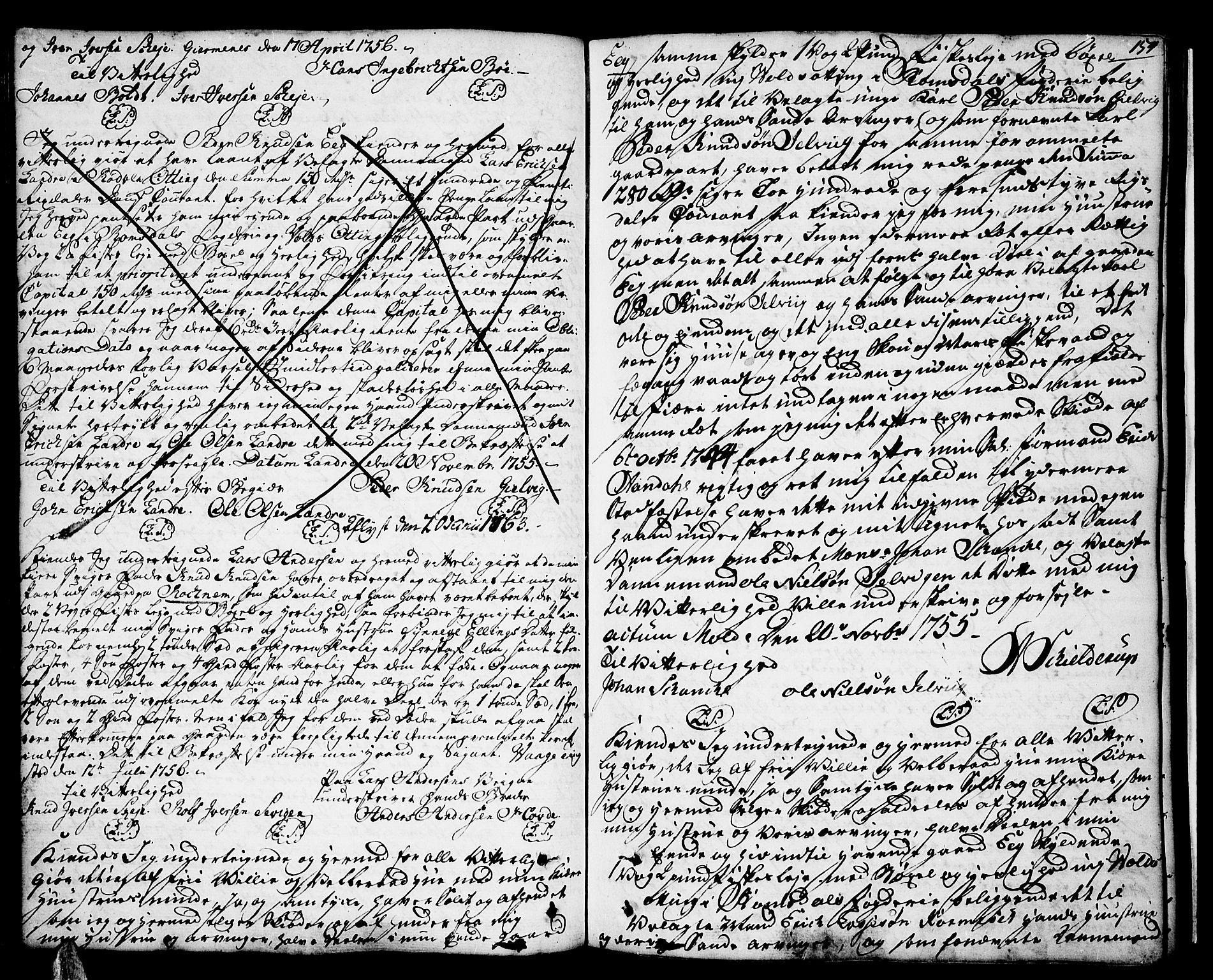 SAT, Romsdal sorenskriveri, 2/2C/L0003: Pantebok nr. 3, 1747-1767, s. 154