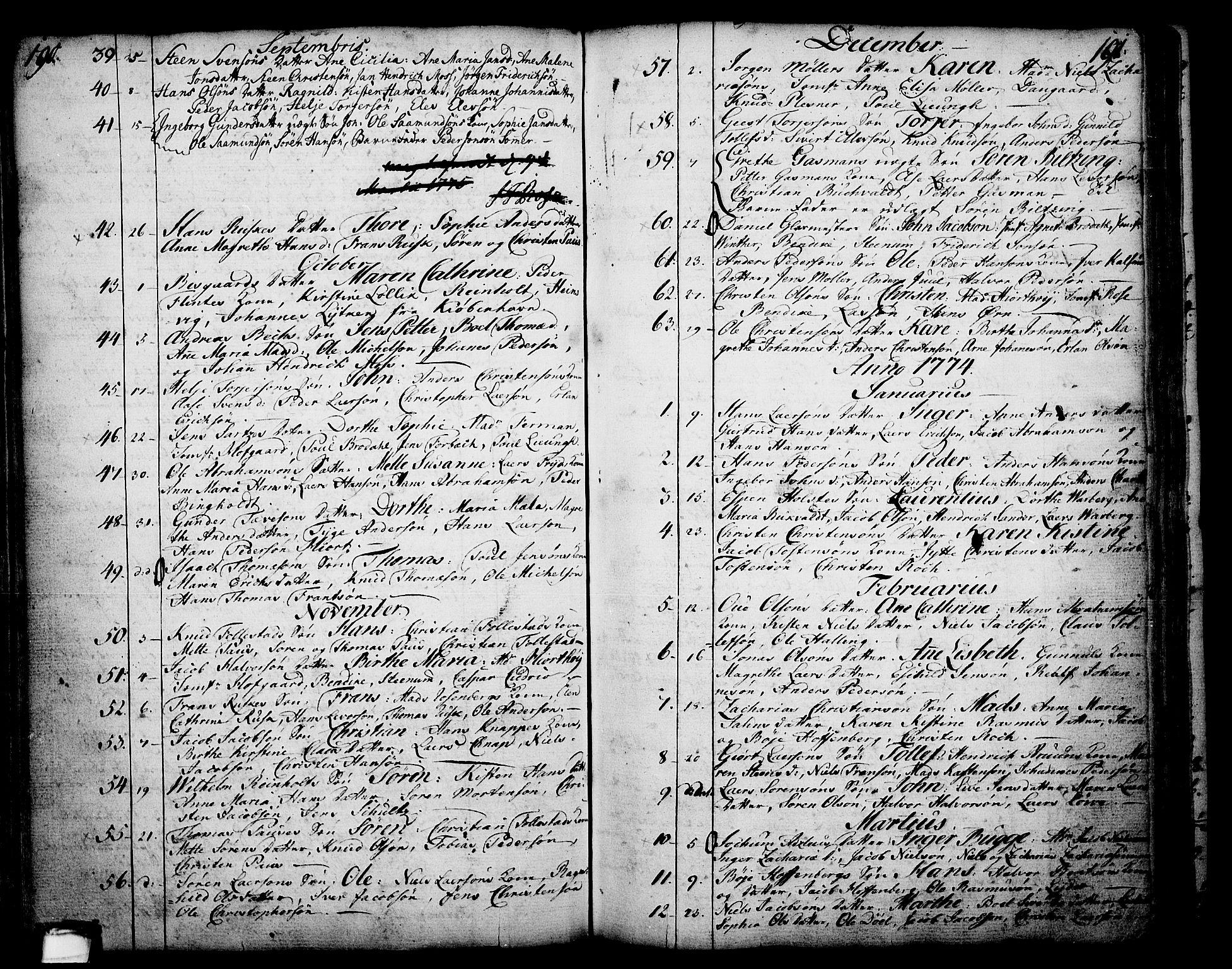 SAKO, Skien kirkebøker, F/Fa/L0003: Ministerialbok nr. 3, 1755-1791, s. 190-191