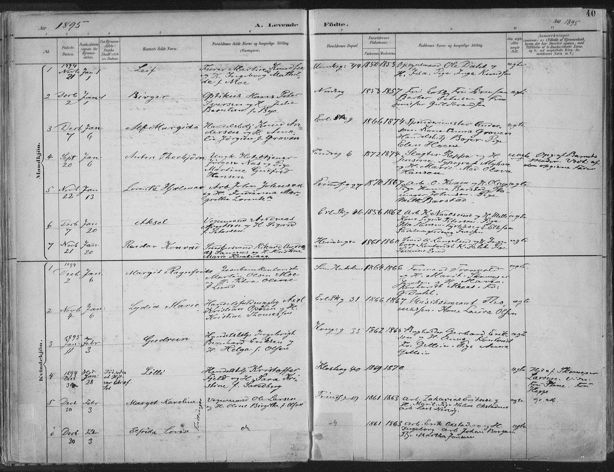 SAT, Ministerialprotokoller, klokkerbøker og fødselsregistre - Sør-Trøndelag, 601/L0062: Ministerialbok nr. 601A30, 1891-1911, s. 40