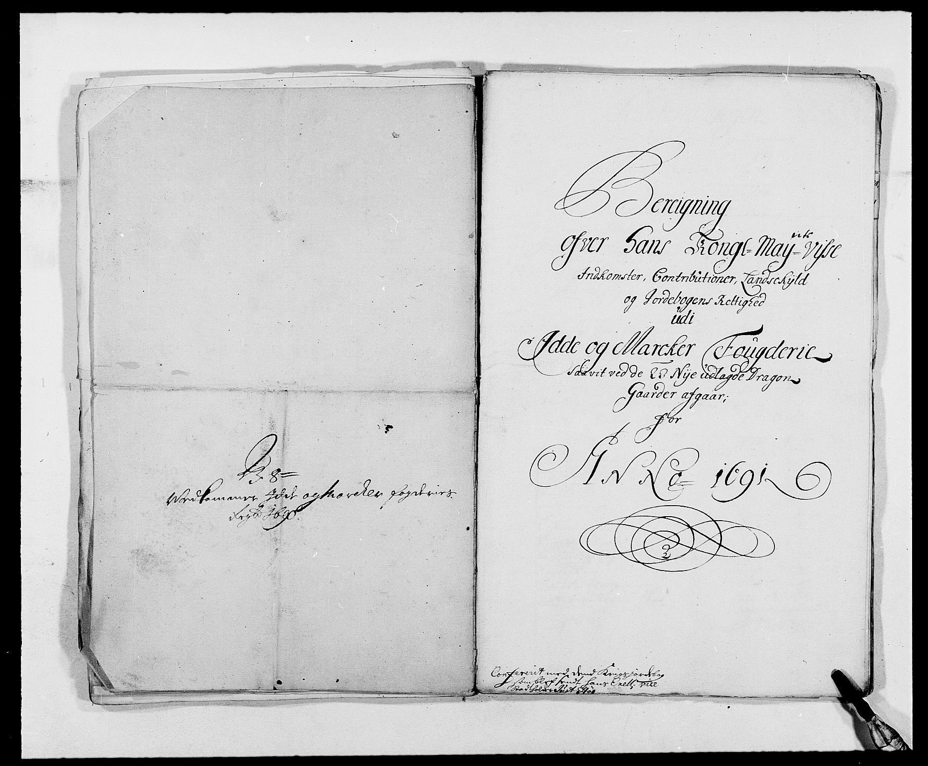 RA, Rentekammeret inntil 1814, Reviderte regnskaper, Fogderegnskap, R01/L0010: Fogderegnskap Idd og Marker, 1690-1691, s. 73