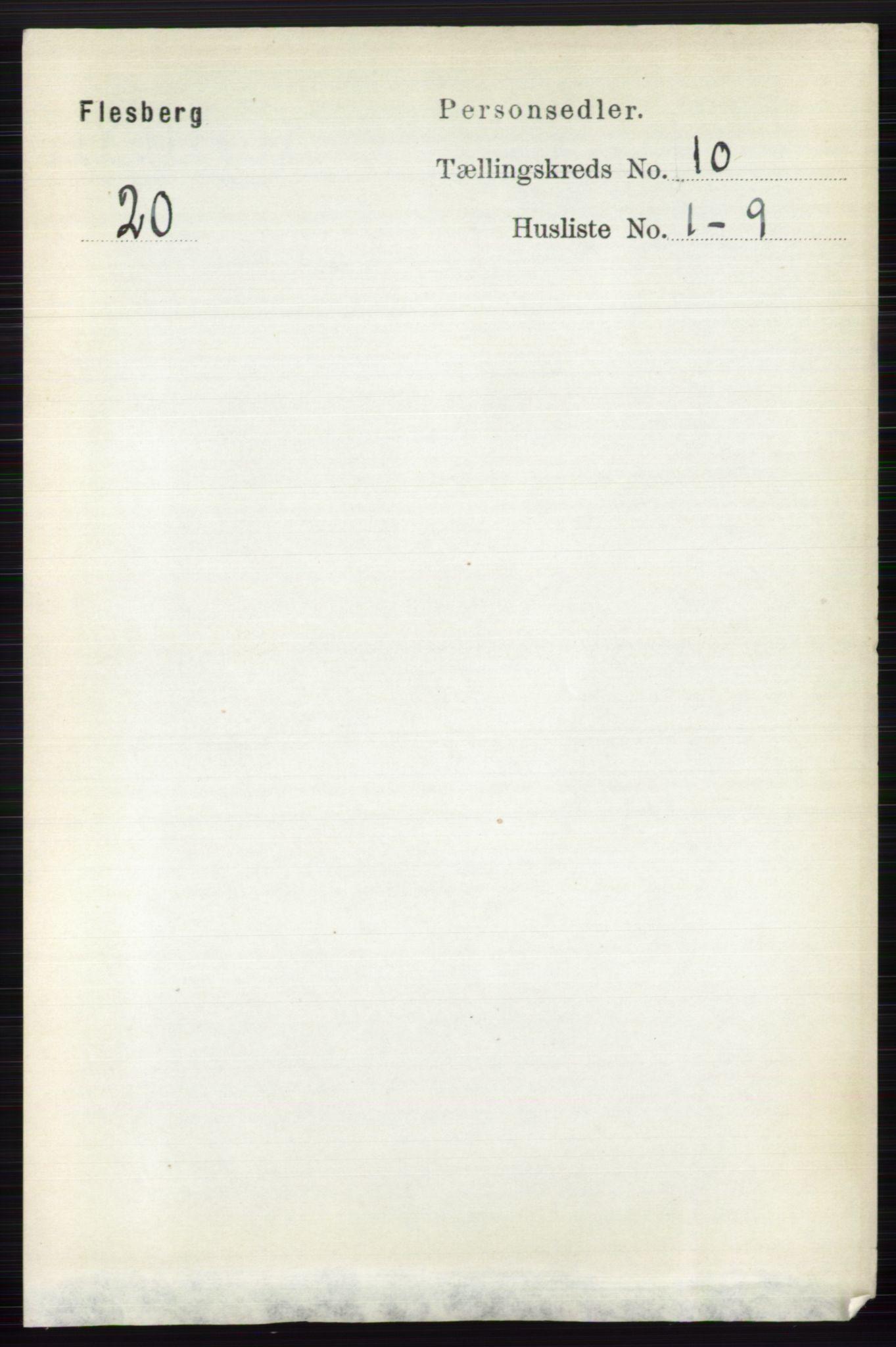 RA, Folketelling 1891 for 0631 Flesberg herred, 1891, s. 1665