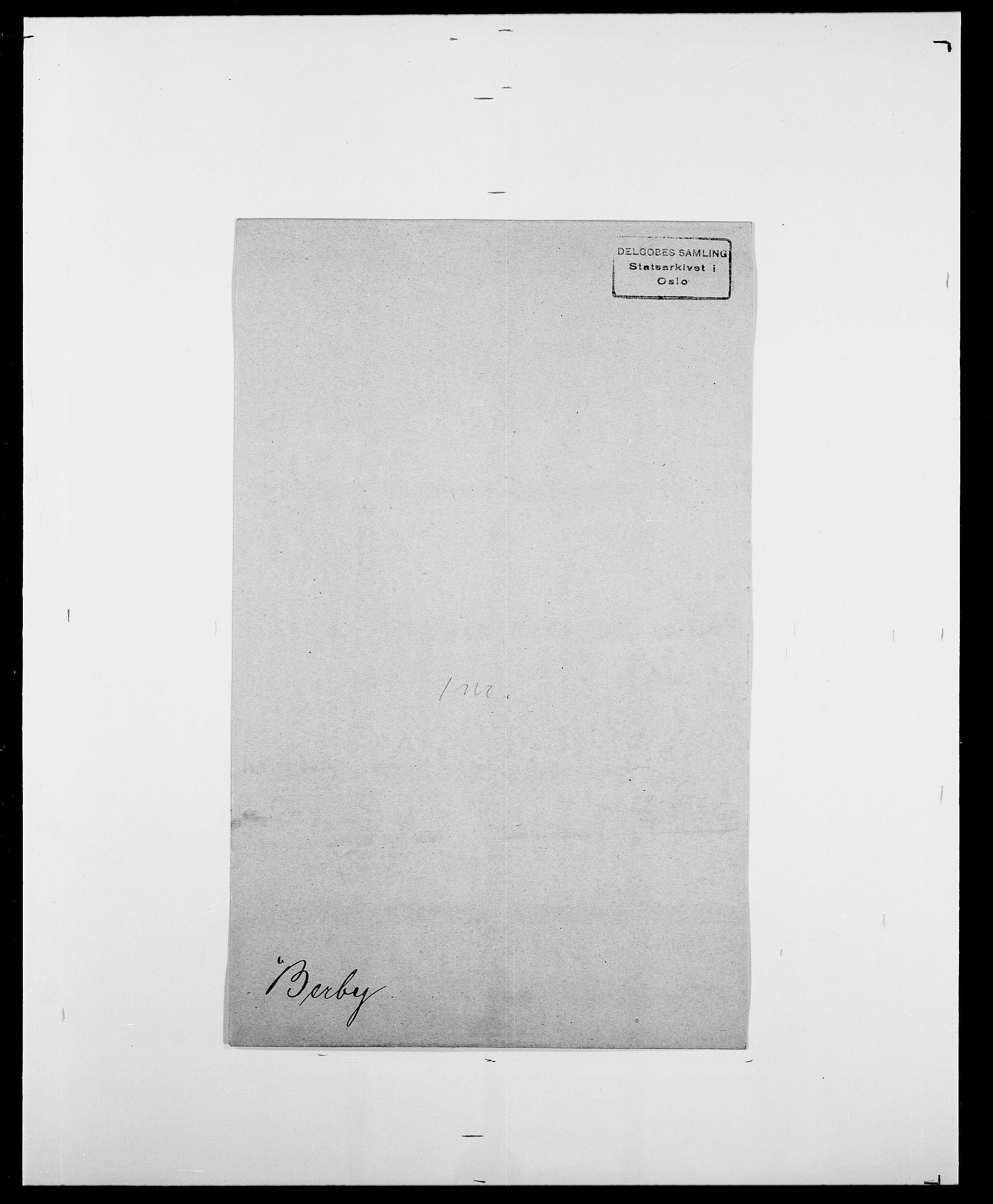 SAO, Delgobe, Charles Antoine - samling, D/Da/L0003: Barca - Bergen, s. 858