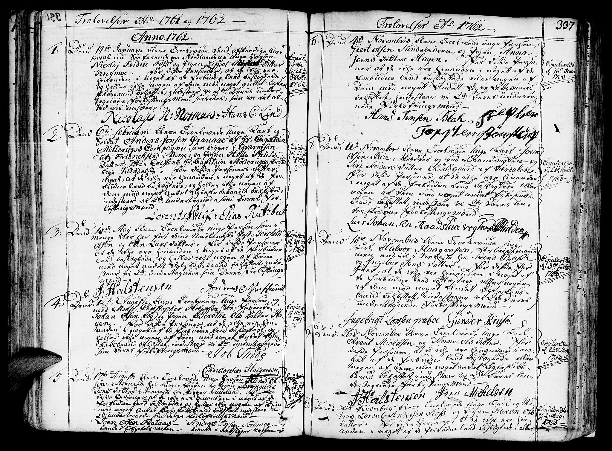 SAT, Ministerialprotokoller, klokkerbøker og fødselsregistre - Sør-Trøndelag, 602/L0103: Ministerialbok nr. 602A01, 1732-1774, s. 337
