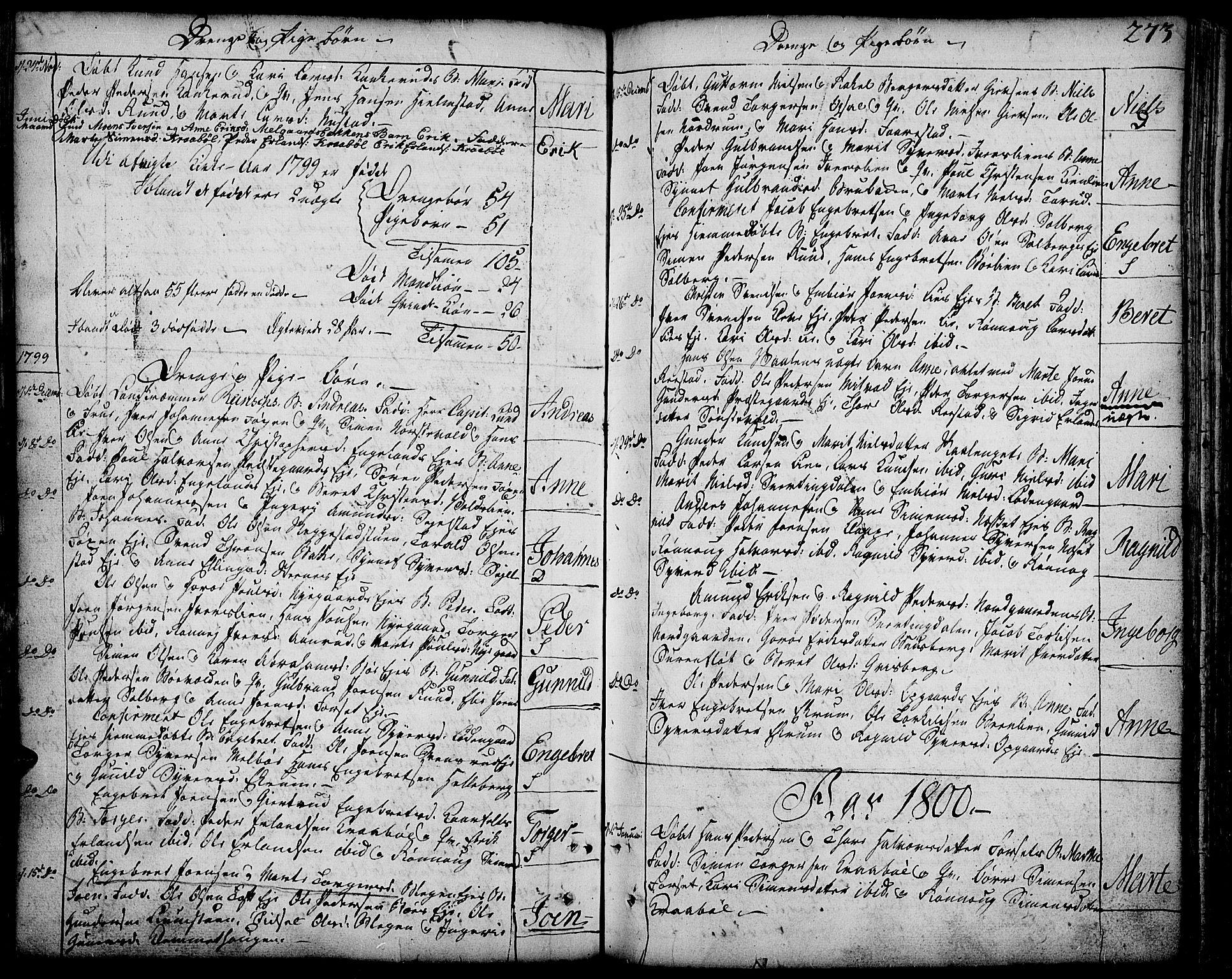 SAH, Gausdal prestekontor, Ministerialbok nr. 3, 1758-1809, s. 273