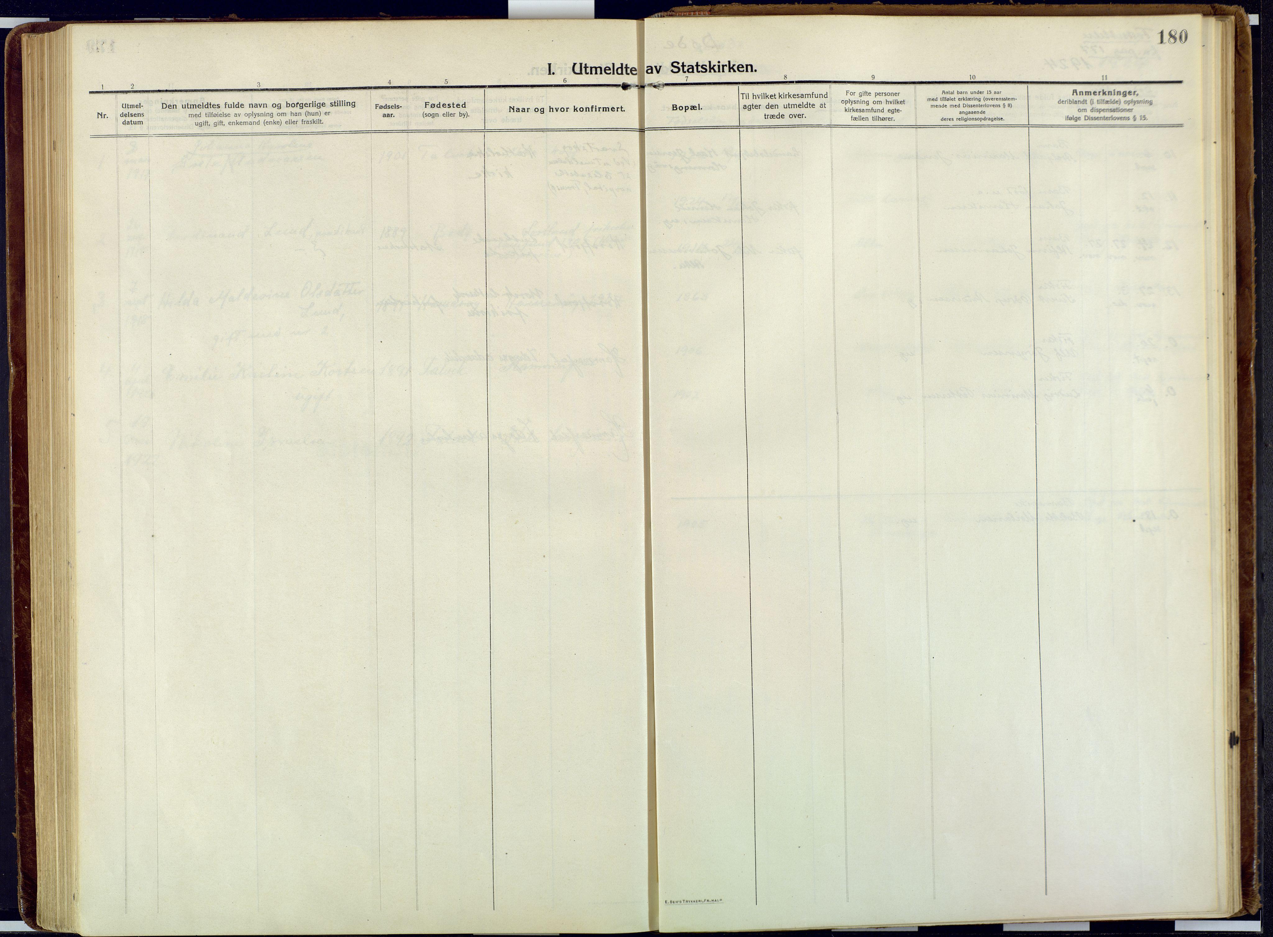 SATØ, Talvik sokneprestkontor, H/Ha/L0018kirke: Ministerialbok nr. 18, 1915-1924, s. 180