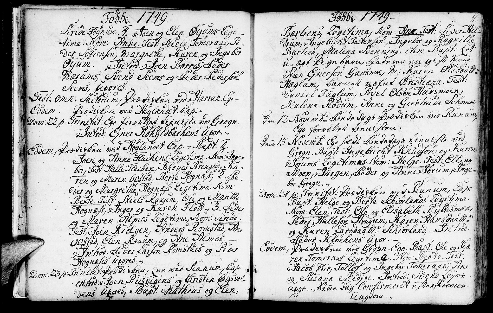 SAT, Ministerialprotokoller, klokkerbøker og fødselsregistre - Nord-Trøndelag, 764/L0542: Ministerialbok nr. 764A02, 1748-1779, s. 11
