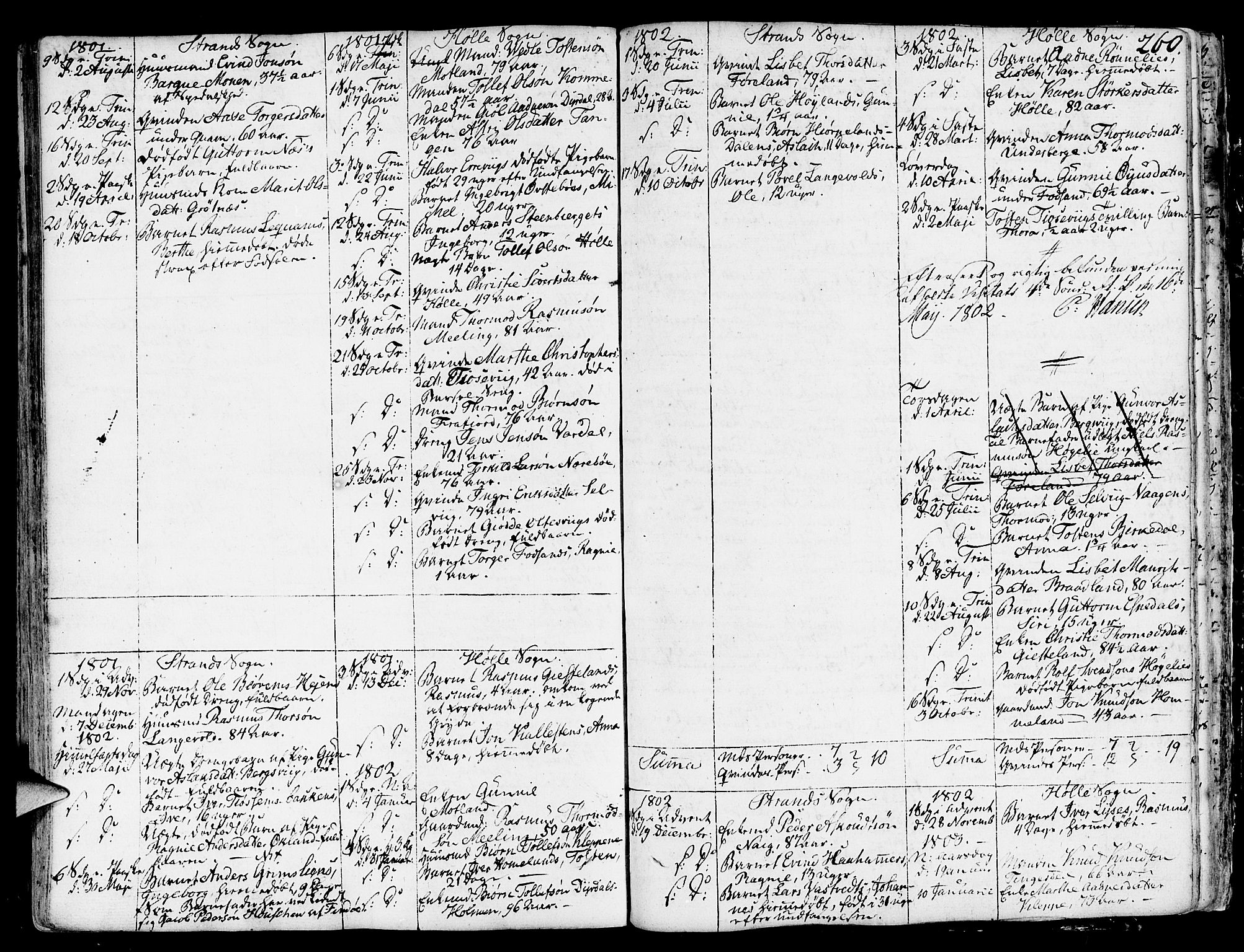 SAST, Strand sokneprestkontor, H/Ha/Haa/L0003: Ministerialbok nr. A 3, 1769-1816, s. 260