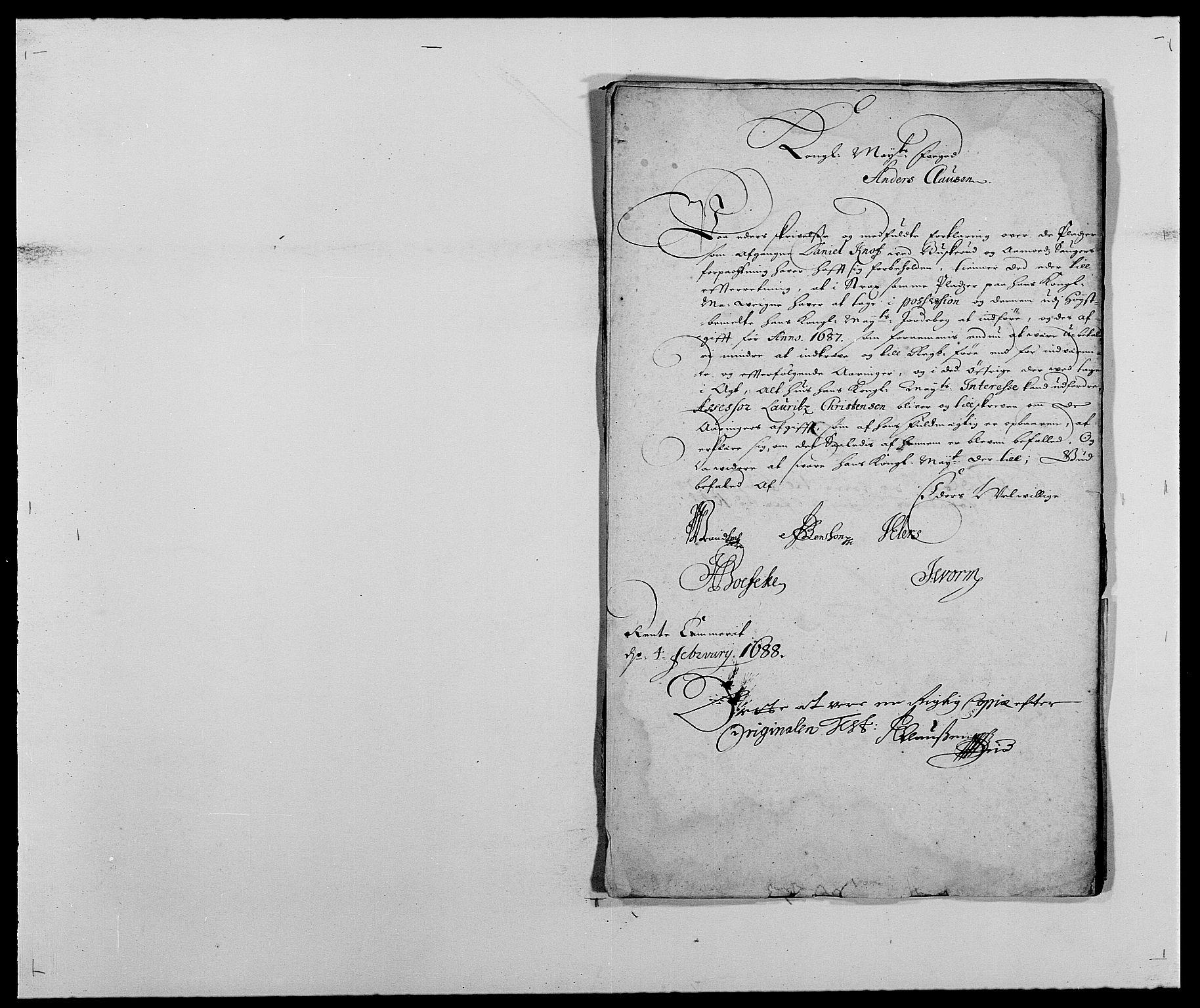 RA, Rentekammeret inntil 1814, Reviderte regnskaper, Fogderegnskap, R25/L1679: Fogderegnskap Buskerud, 1687-1688, s. 516