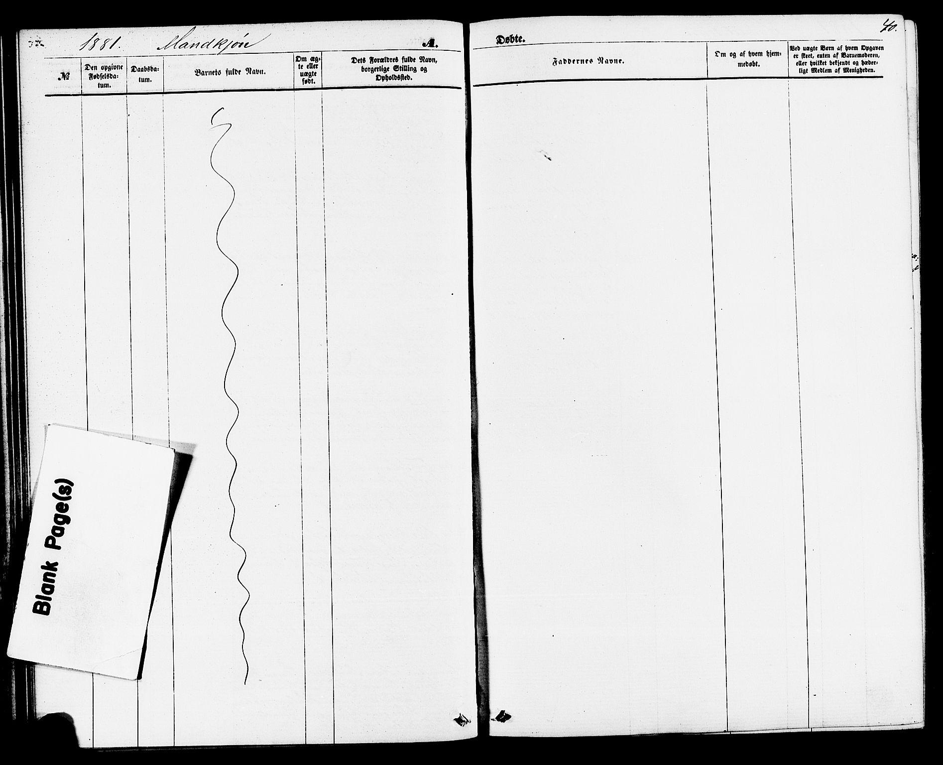 SAKO, Sauherad kirkebøker, F/Fa/L0008: Ministerialbok nr. I 8, 1873-1886, s. 40