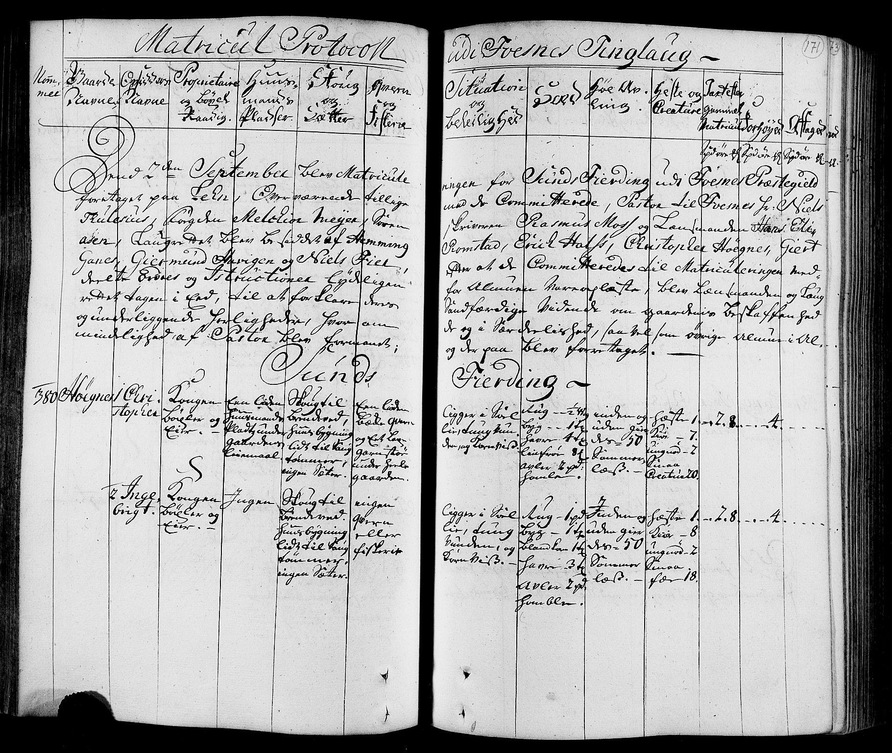 RA, Rentekammeret inntil 1814, Realistisk ordnet avdeling, N/Nb/Nbf/L0168: Namdalen eksaminasjonsprotokoll, 1723, s. 170b-171a