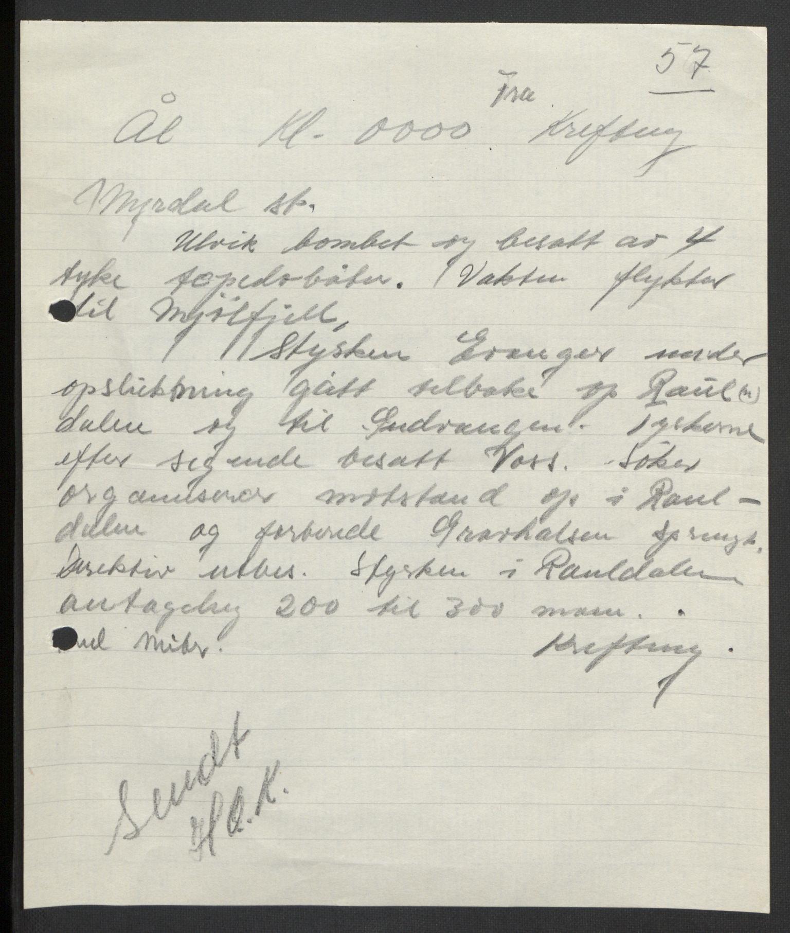 RA, Forsvaret, Forsvarets krigshistoriske avdeling, Y/Yb/L0104: II-C-11-430  -  4. Divisjon., 1940, s. 217