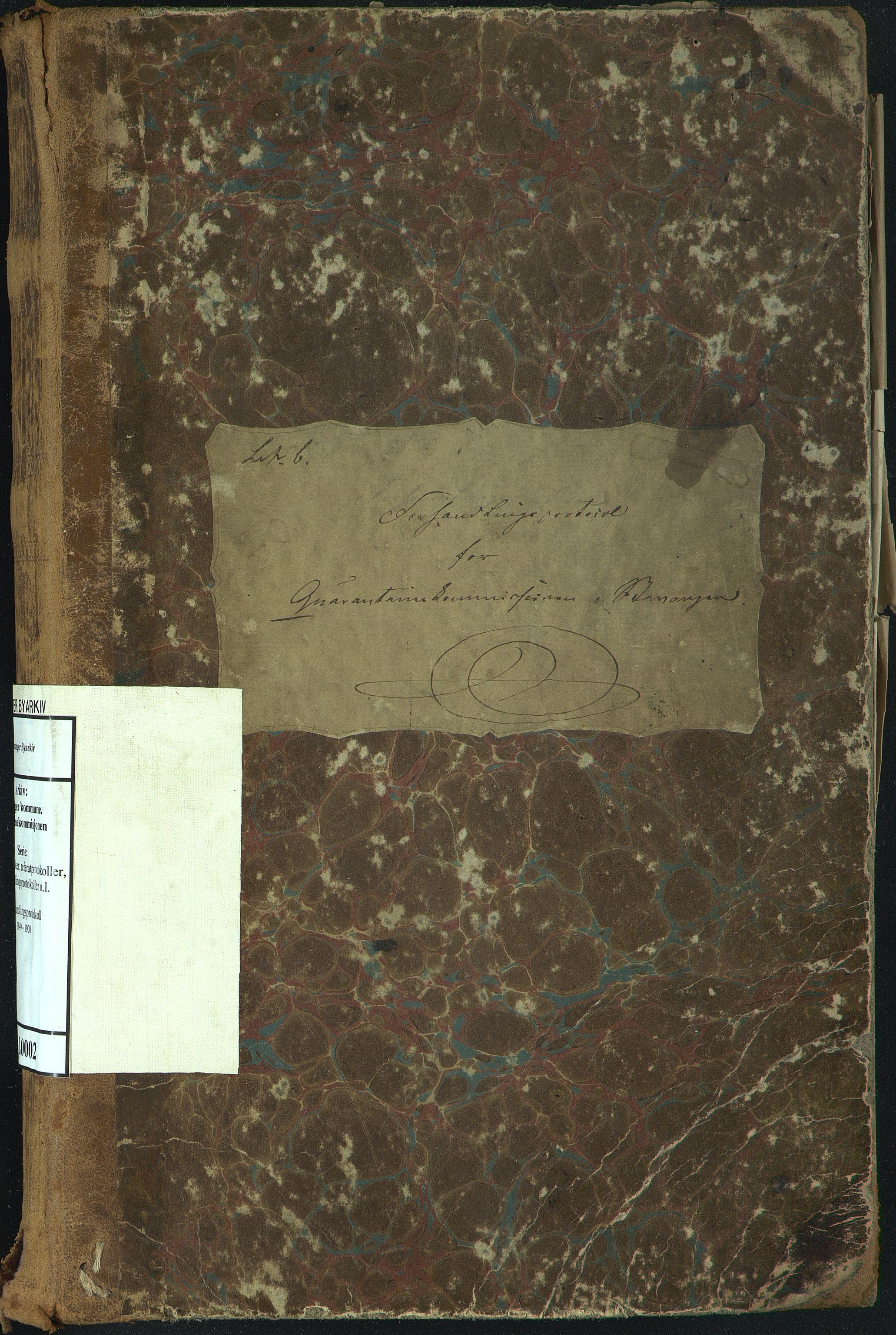 BYST, Stavanger kommune. Karantenekommisjonen, A/L0002: Forhandlingsprotokoll, 1849-1908