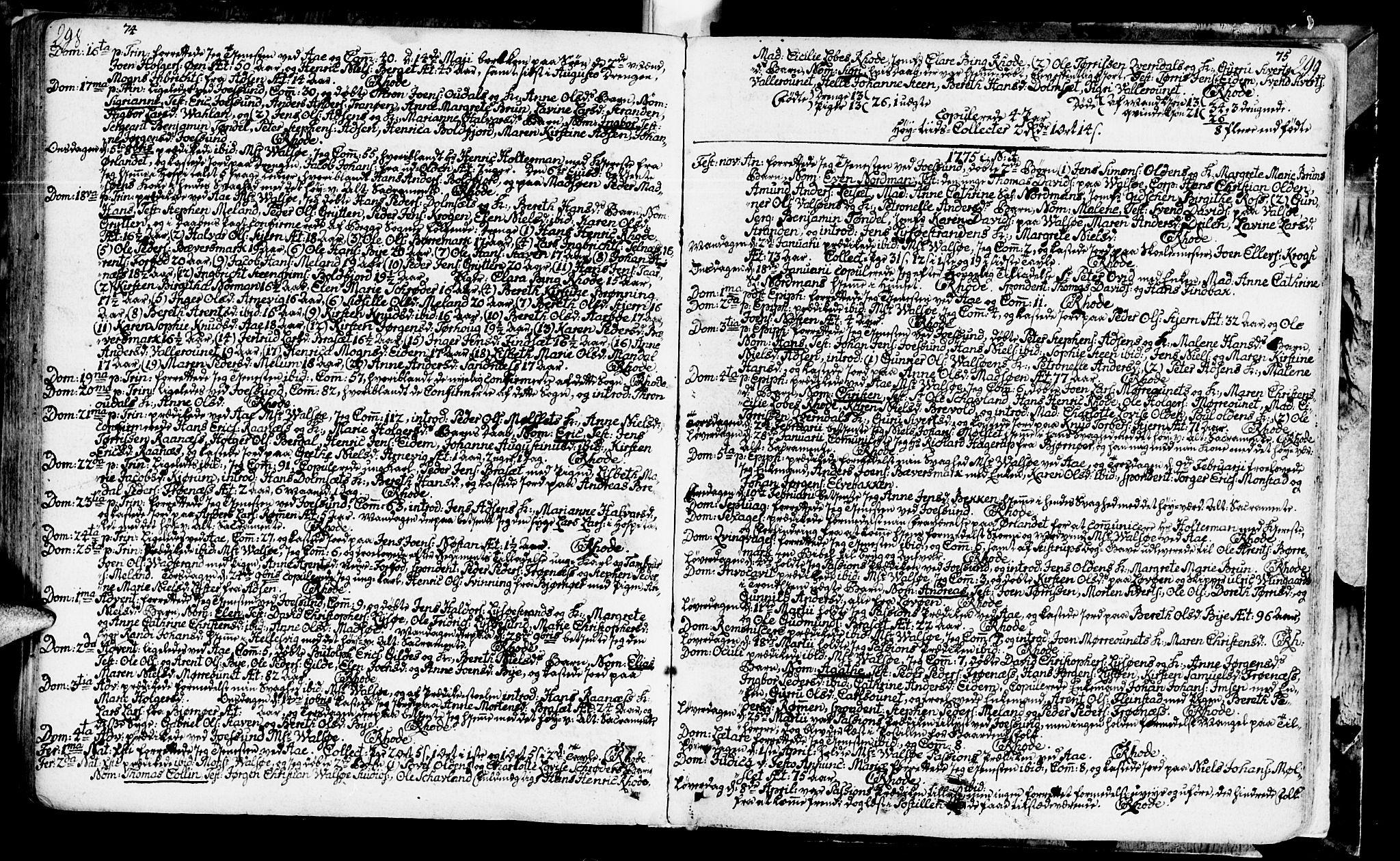 SAT, Ministerialprotokoller, klokkerbøker og fødselsregistre - Sør-Trøndelag, 655/L0672: Ministerialbok nr. 655A01, 1750-1779, s. 298-299