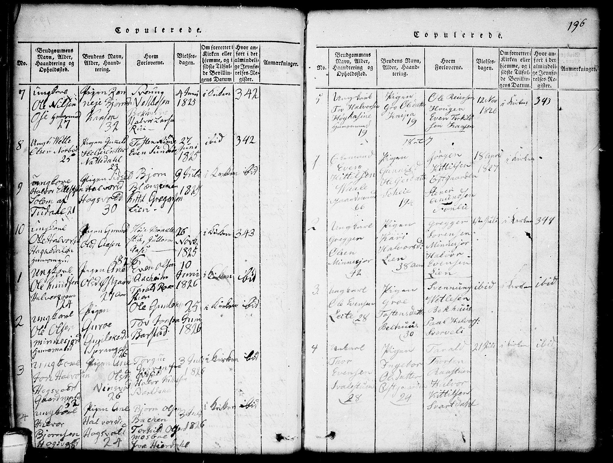 SAKO, Seljord kirkebøker, G/Gb/L0002: Klokkerbok nr. II 2, 1815-1854, s. 196