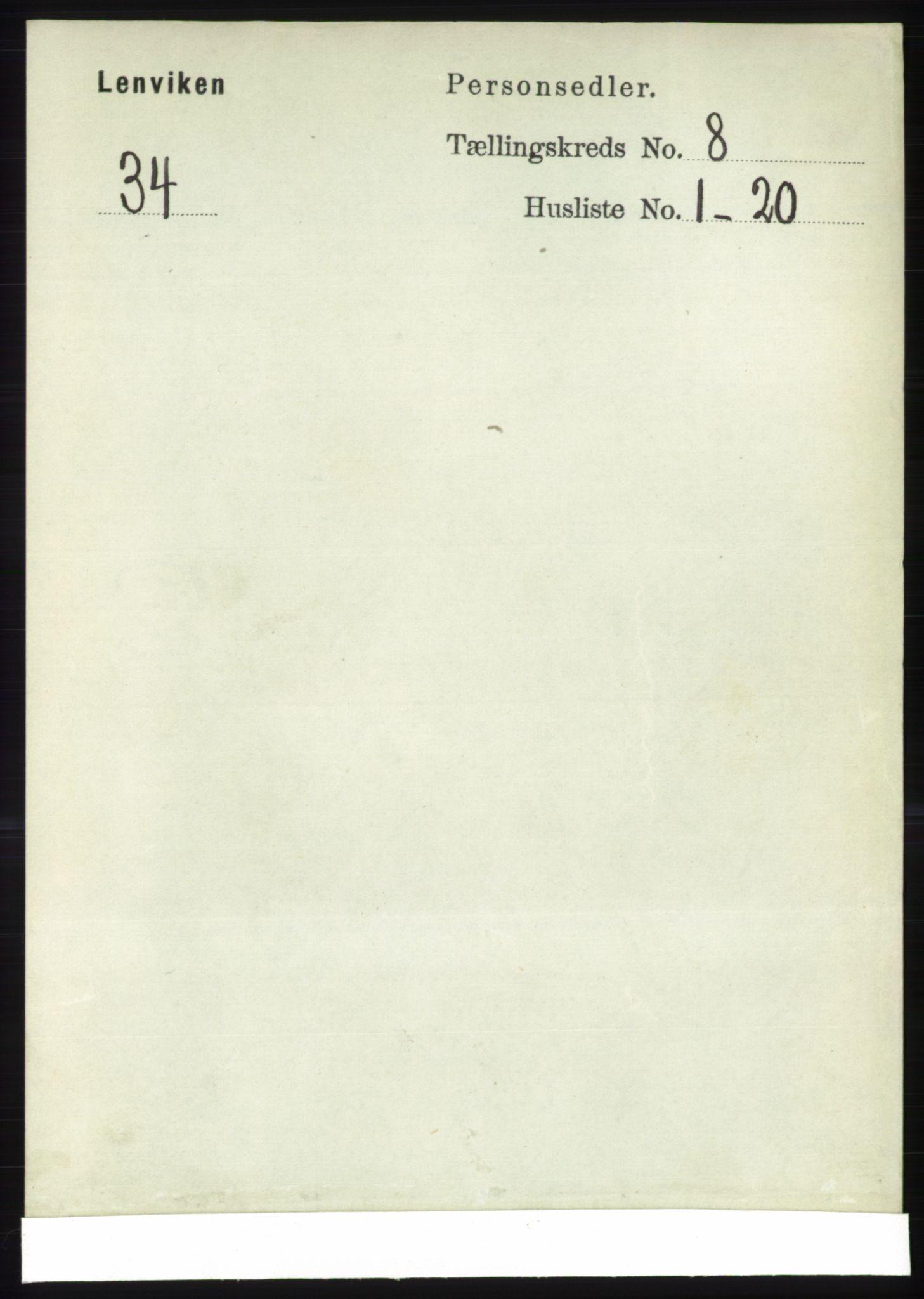 RA, Folketelling 1891 for 1931 Lenvik herred, 1891, s. 4390